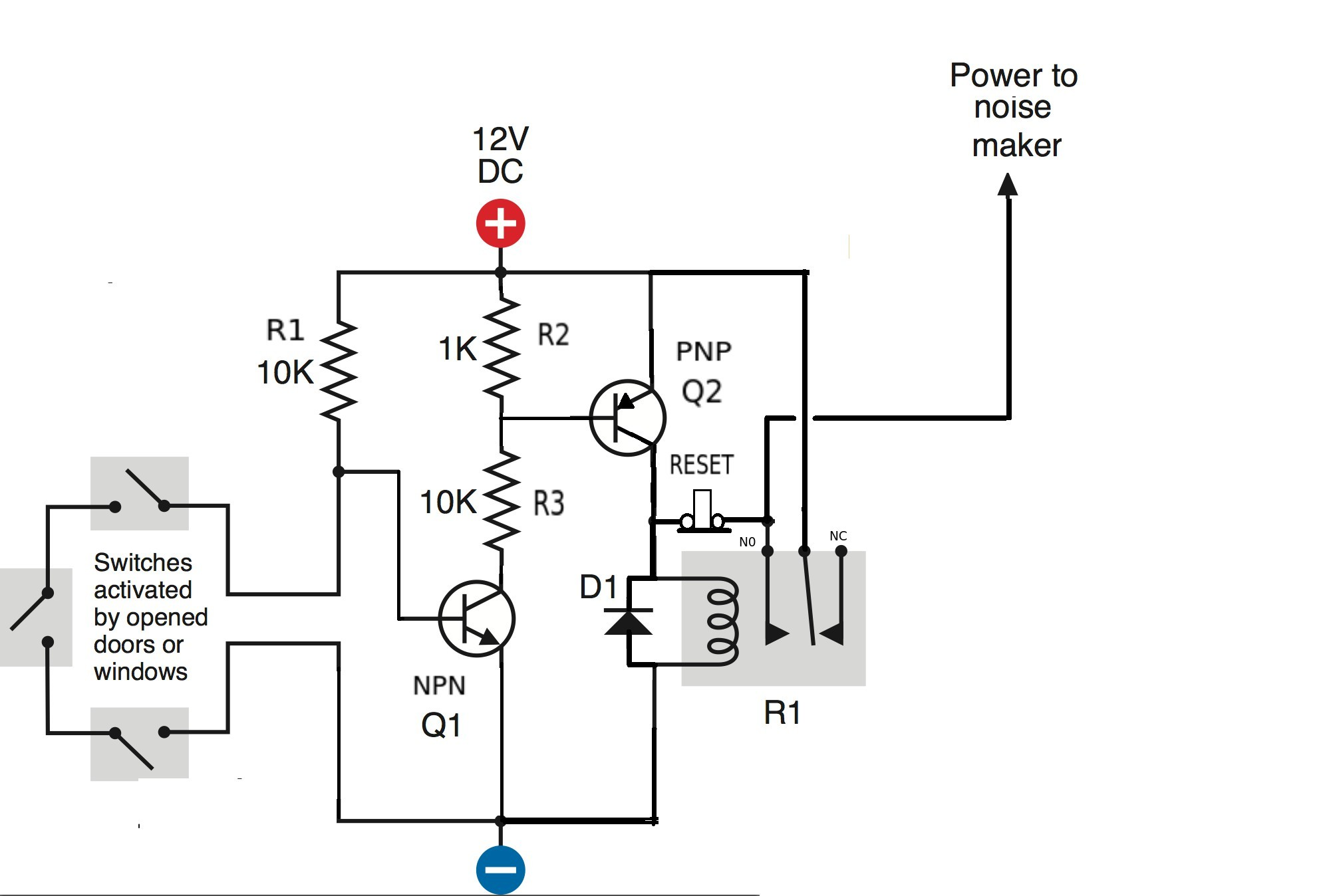 12 volt relay wiring diagram simple 12v horn wiring