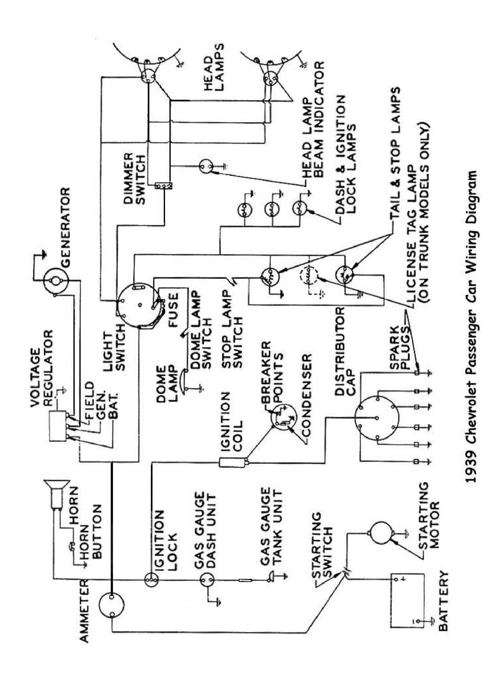 WRG-1635] Wiring Diagram 1951 Chevy Belair on