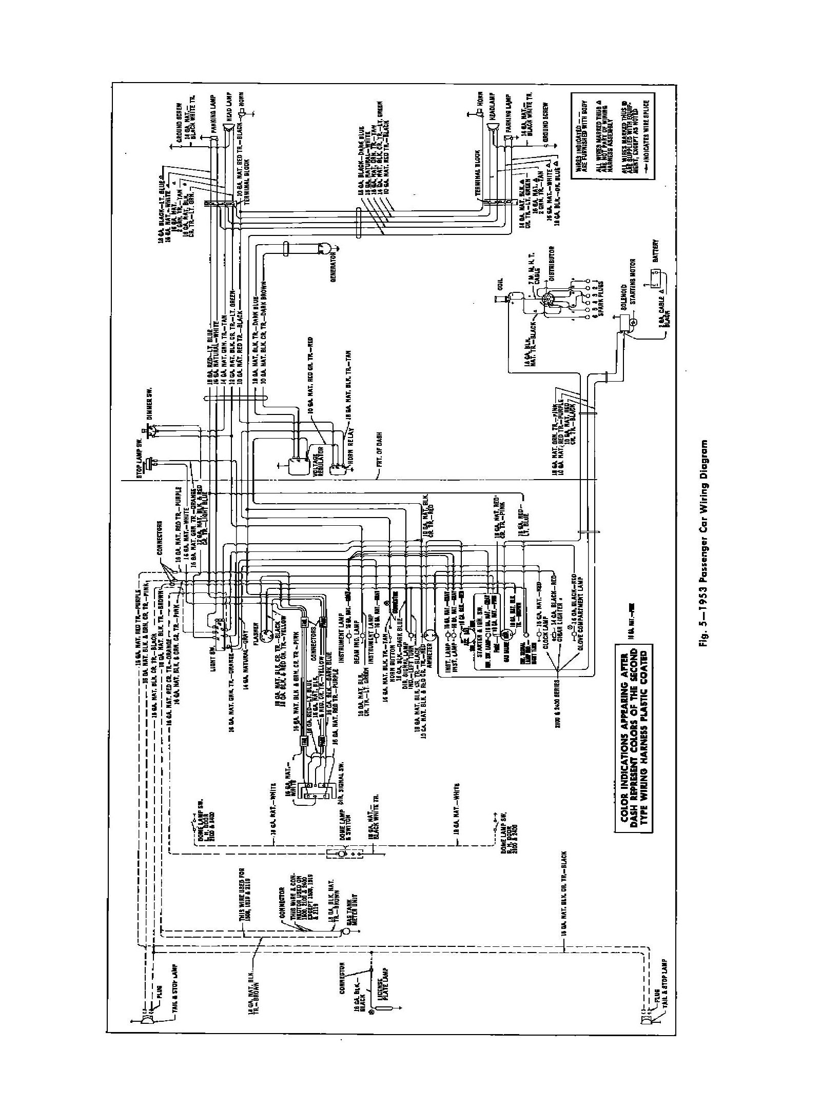 1953 chevy truck wiring diagram 1960 chevy wiring diagram