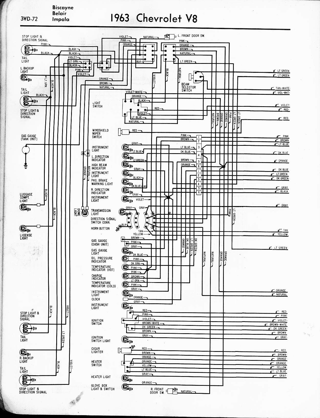 57 65 chevy wiring diagrams rh oldcarmanualproject