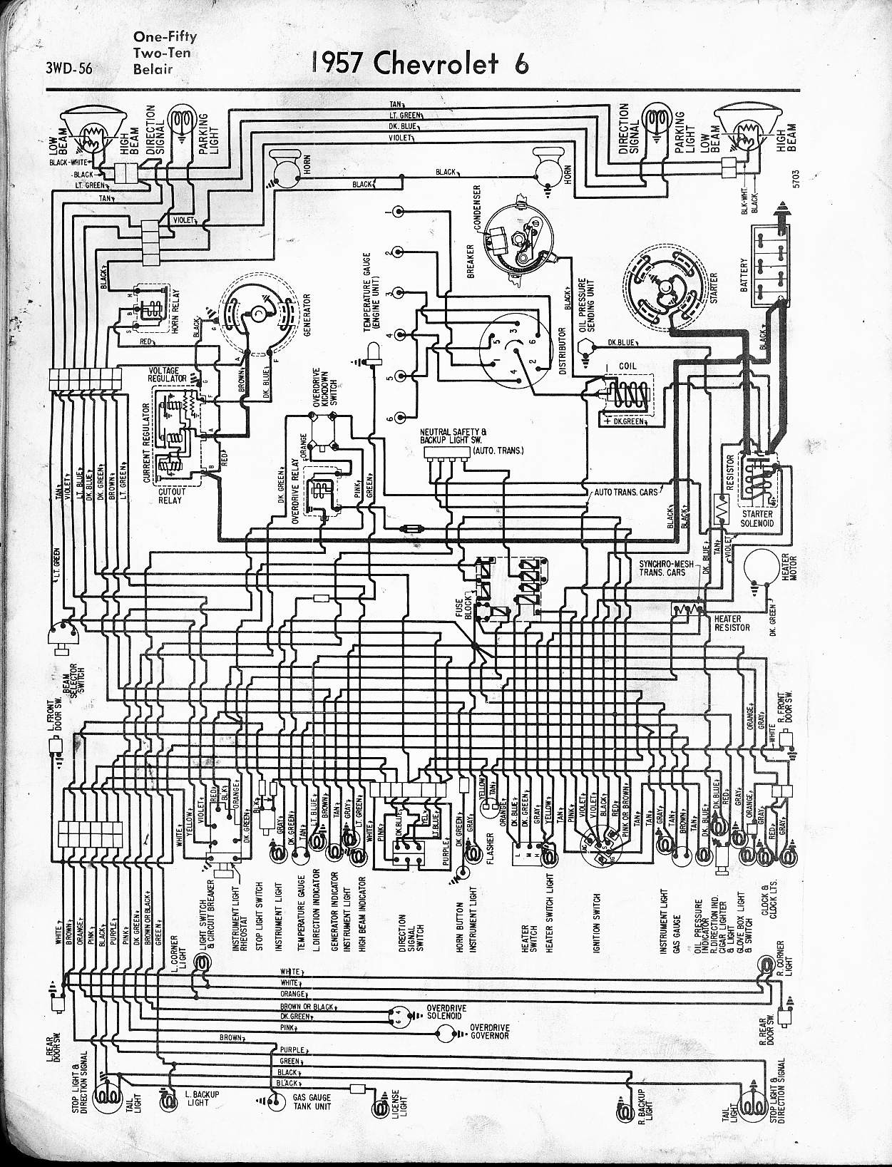 1962 Chevy Truck Wiring Diagram 57 65 Chevy Wiring Diagrams Of 1962 Chevy Truck Wiring Diagram