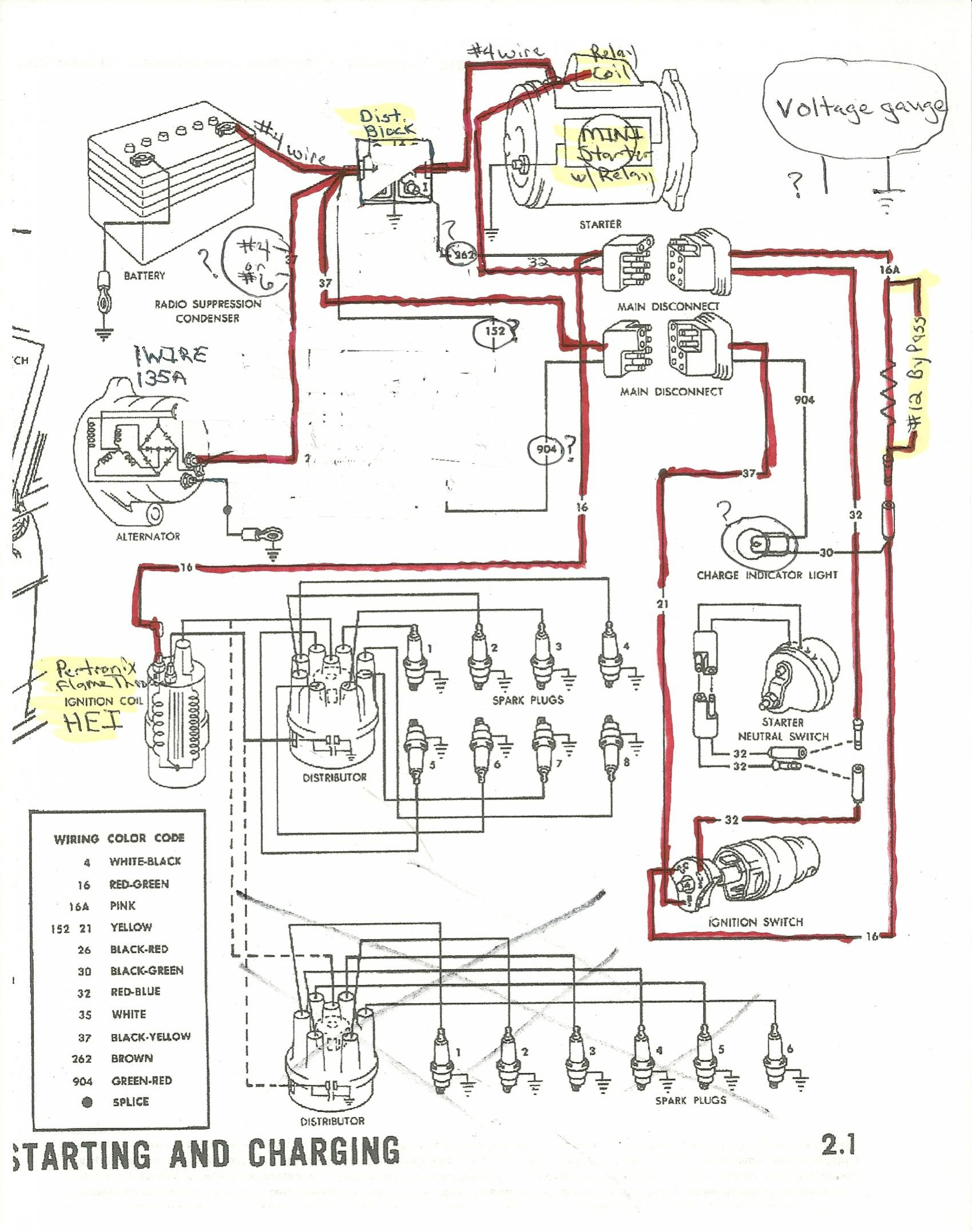 1965 Ford Mustang Alternator Wiring - Electrical Drawing Wiring ...
