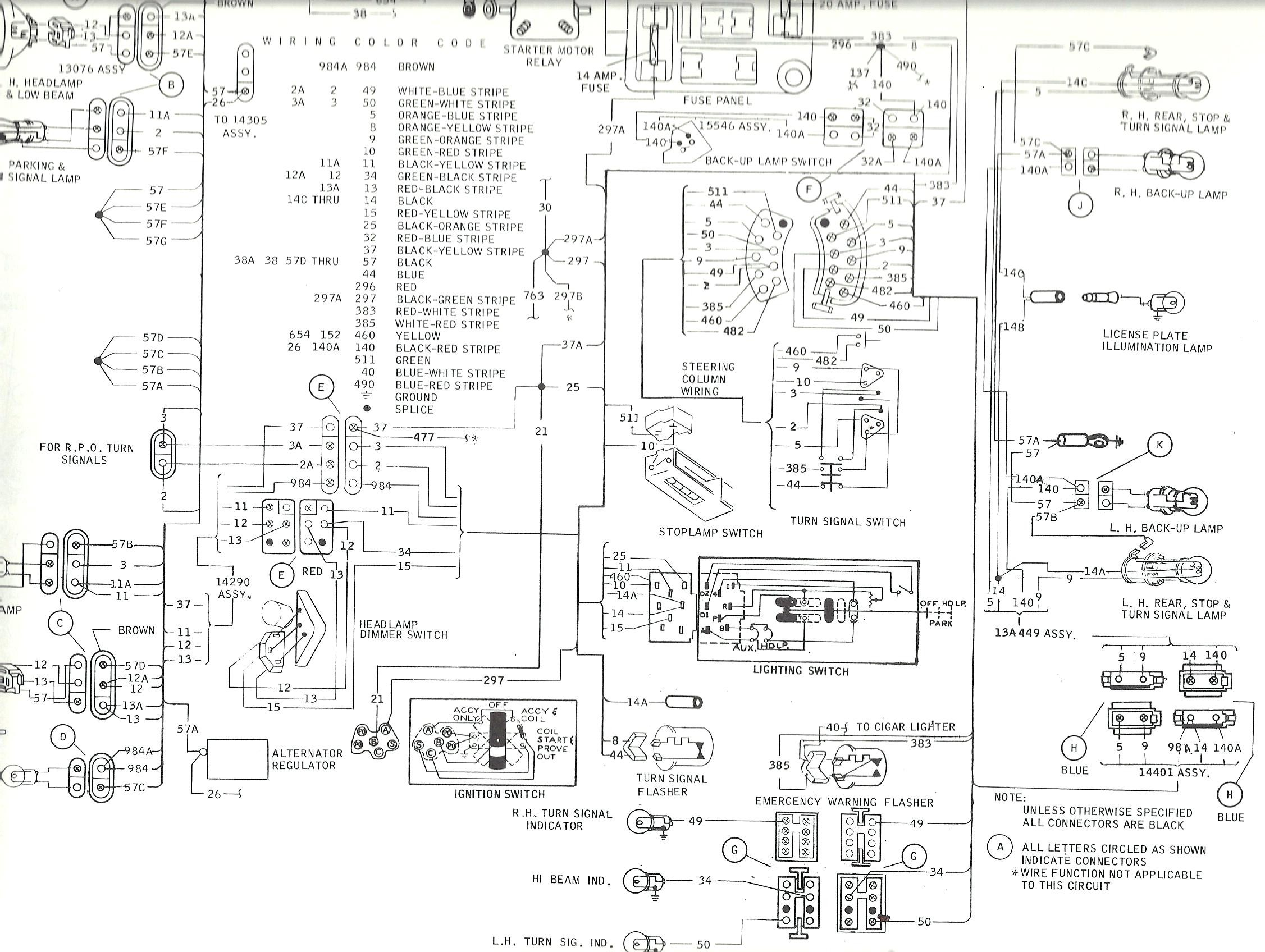 1968 Mustang Wiring Diagram 1990 Ford Alternator Engine Turn Signal Switch Fuse S The Of