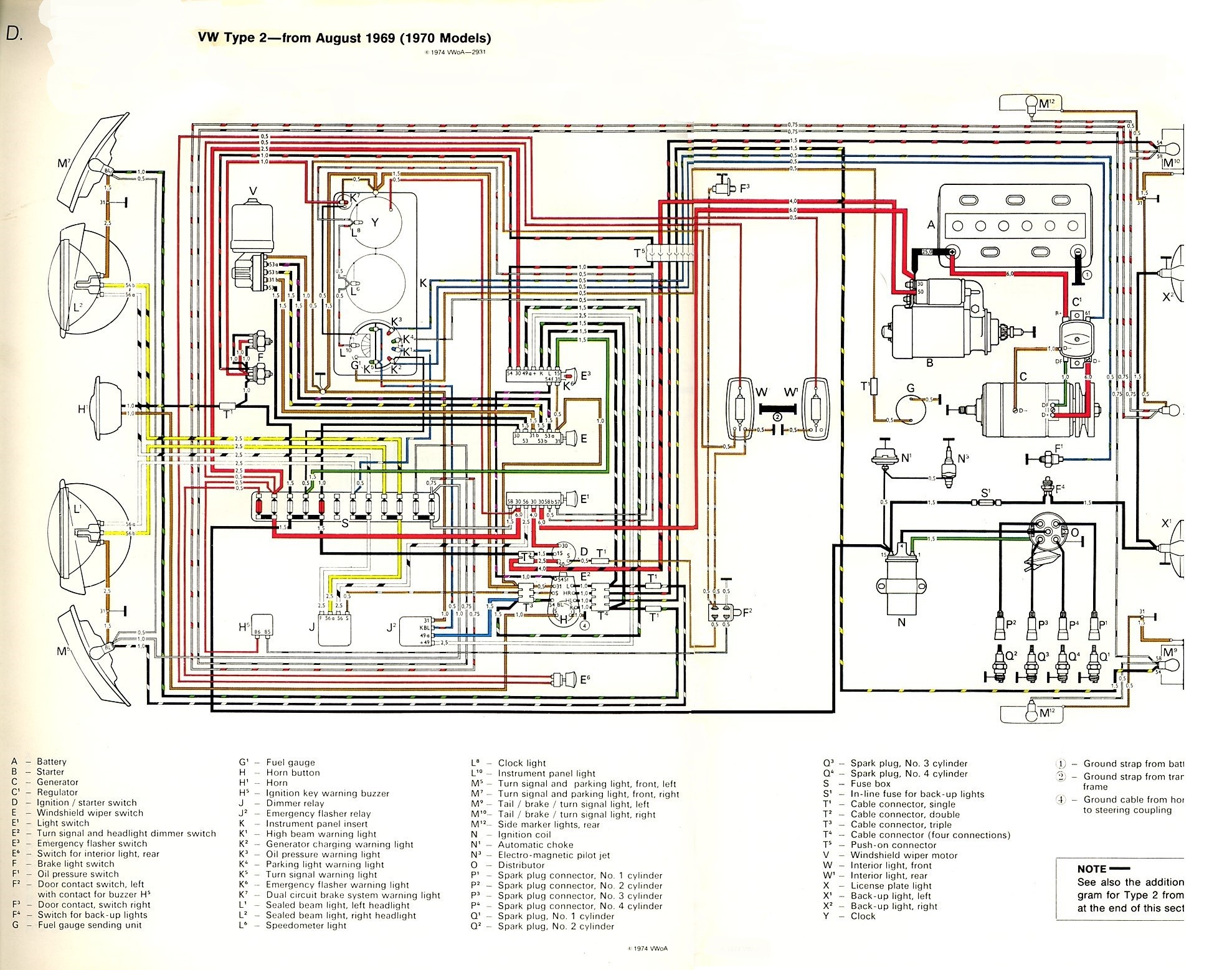 1970 Vw Beetle Engine Diagram thesamba Type 2 Wiring Diagrams Of 1970 Vw  Beetle Engine Diagram