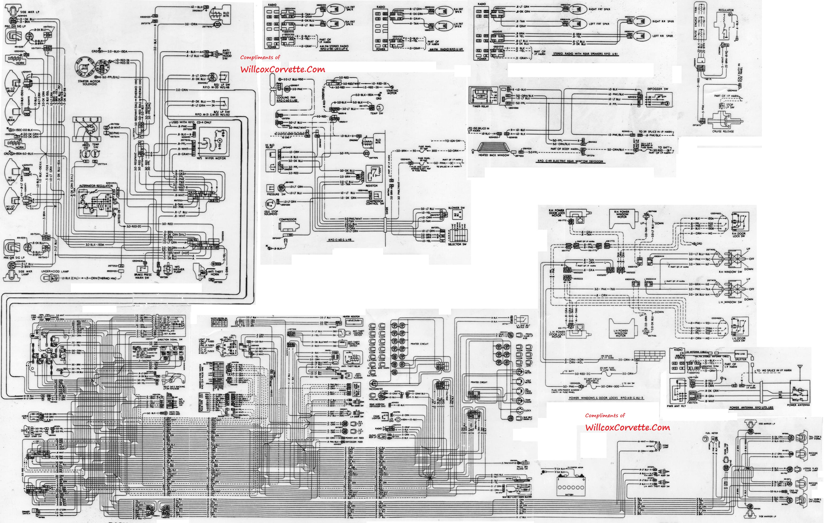 c4 corvette dash wiring diagram product wiring diagrams u2022 rh genesisventures us 1966 Corvette Wiring Diagram 1957 Corvette with Fi Wiring