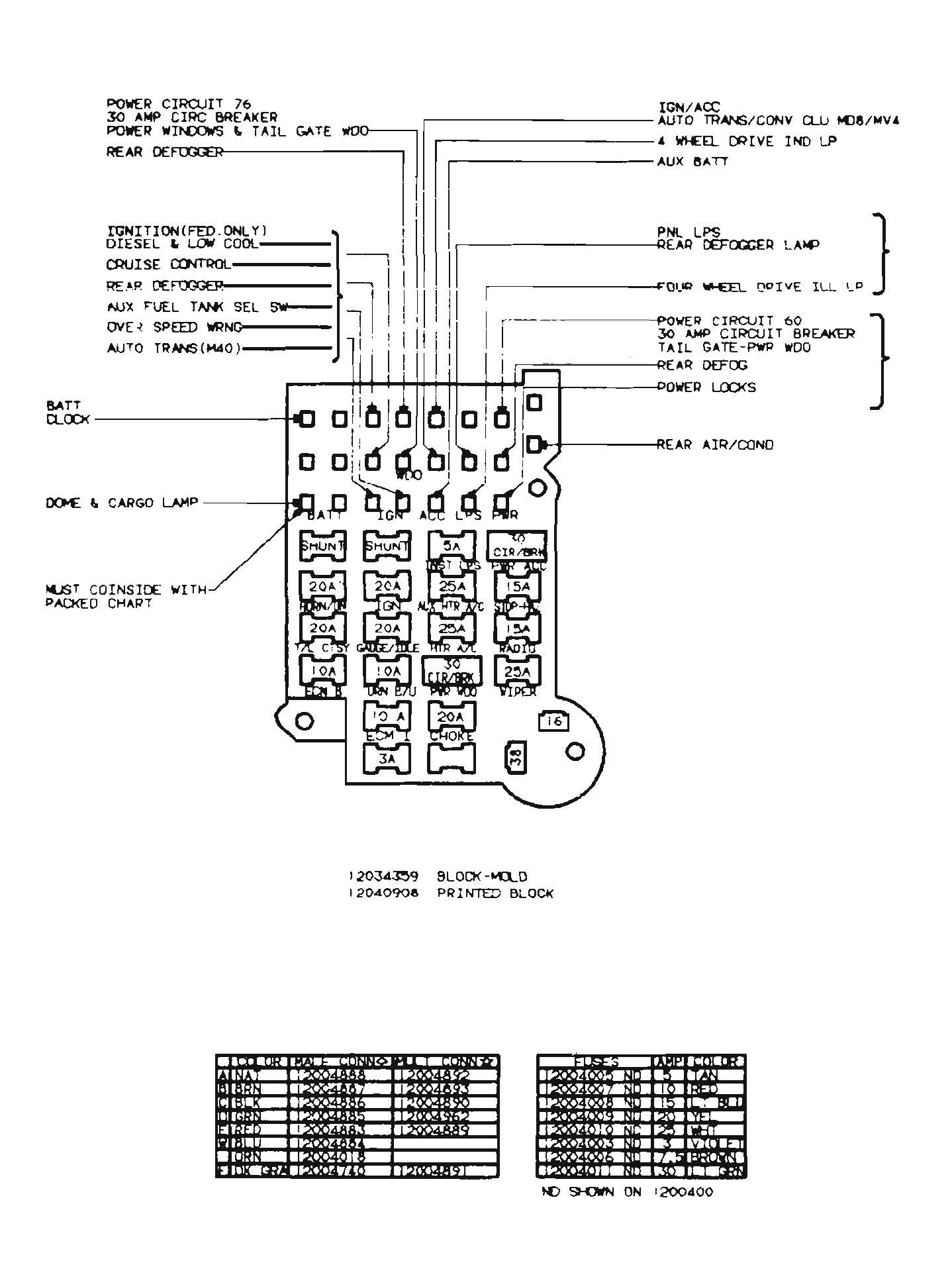 1989 Chevrolet Silverado Fuse Box - 99 Suburban Power Window Wiring Diagram  for Wiring Diagram Schematics