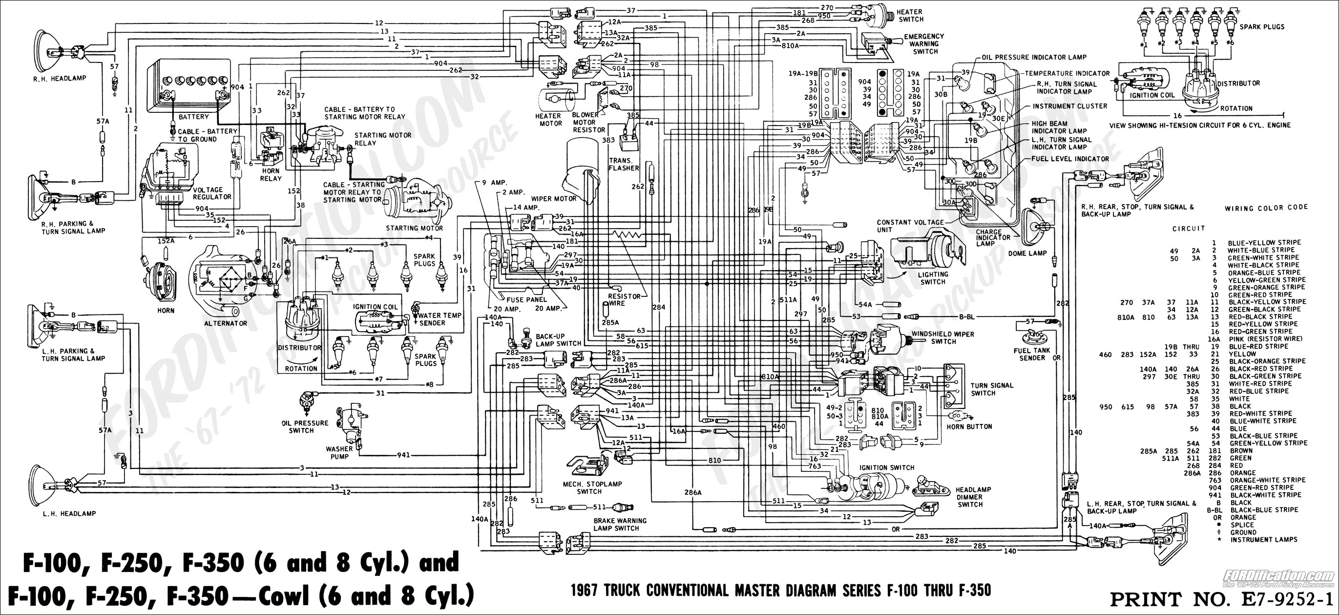 1988 ford truck cab foldout wiring diagram original f600 f700  1987 ford f700 wiring manual sample user manual u2022 rh ctsedu us