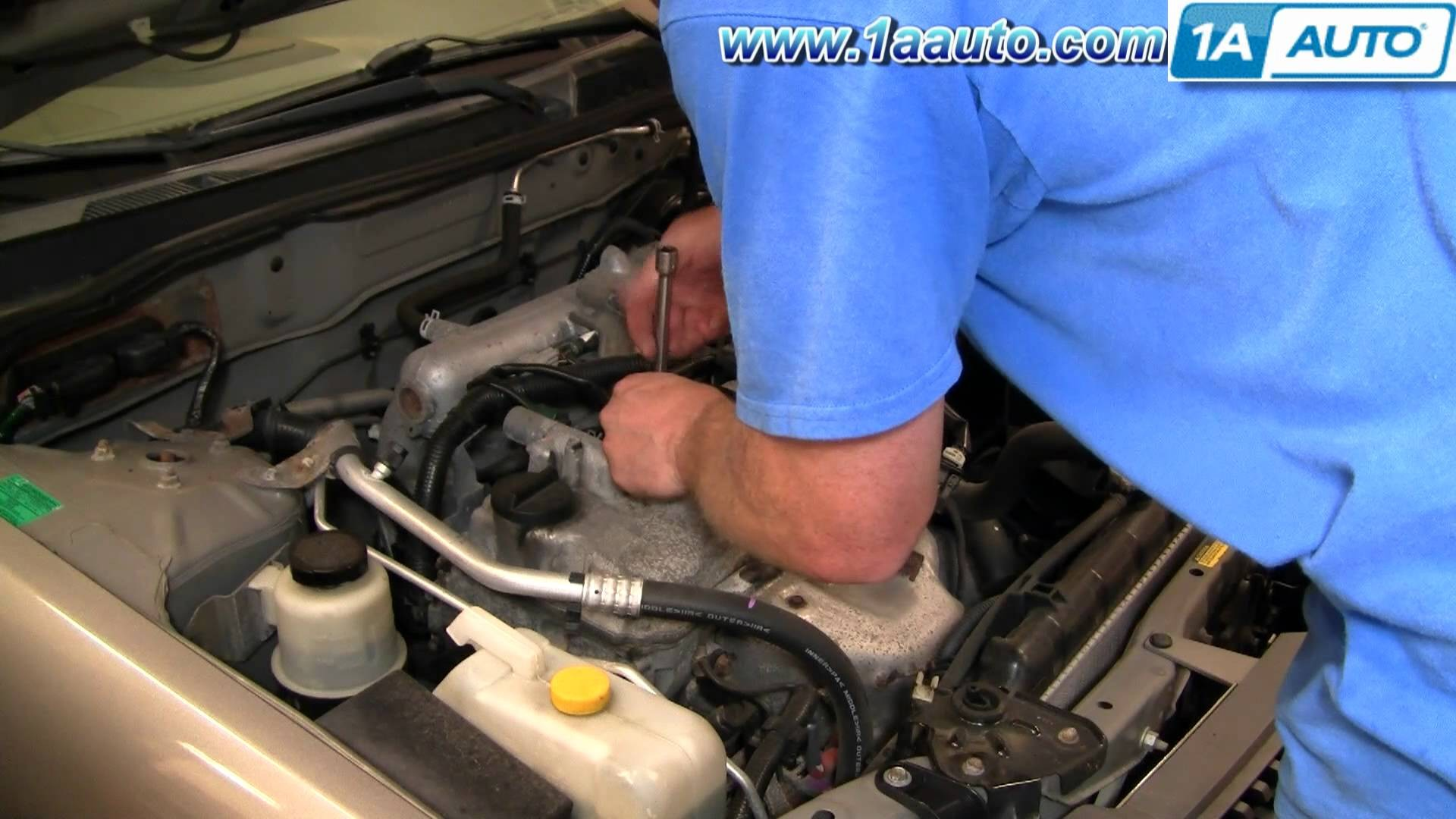 1994 Nissan Sentra Engine Diagram Likewise 2001 Pathfinder How To Install Replace Spark Plugs 04 06 1aauto