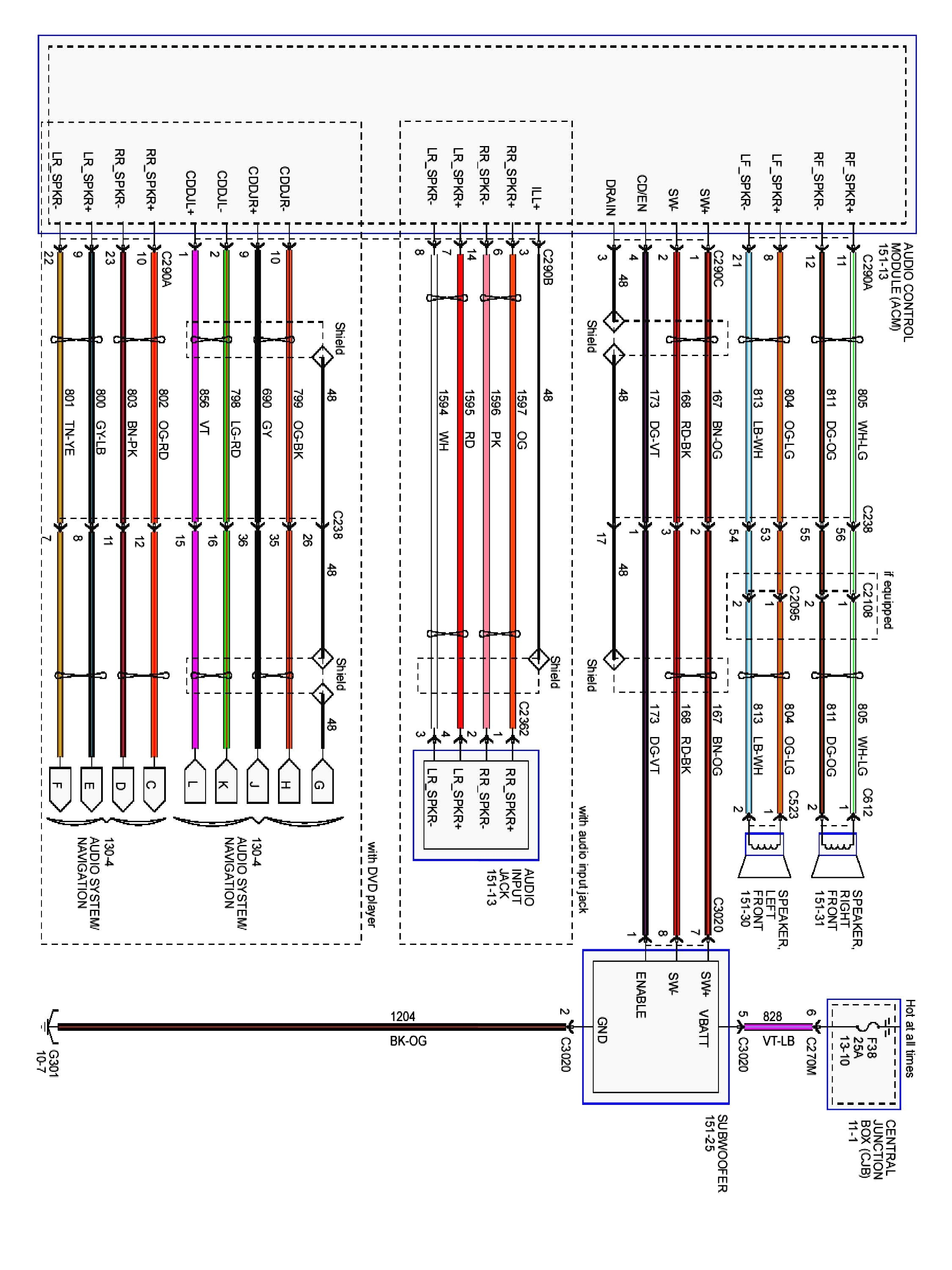 wiring diagram for 1990 ford f 150 stereo speakers wiring F150 Wiring Schematic