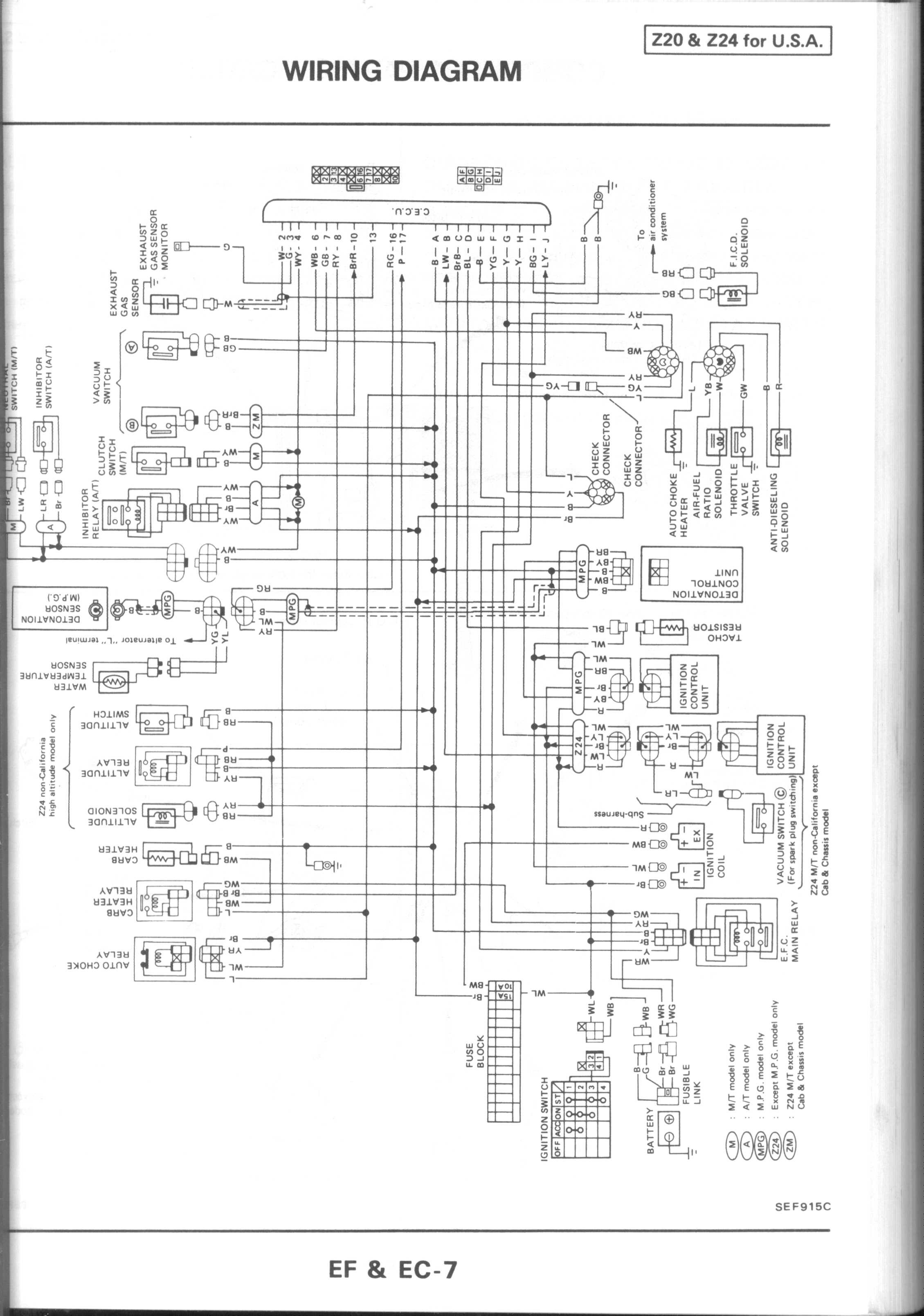 1995 Nissan Pickup Engine Diagram Also 1980 Pulsar Nx Pick Up Wiring Harness