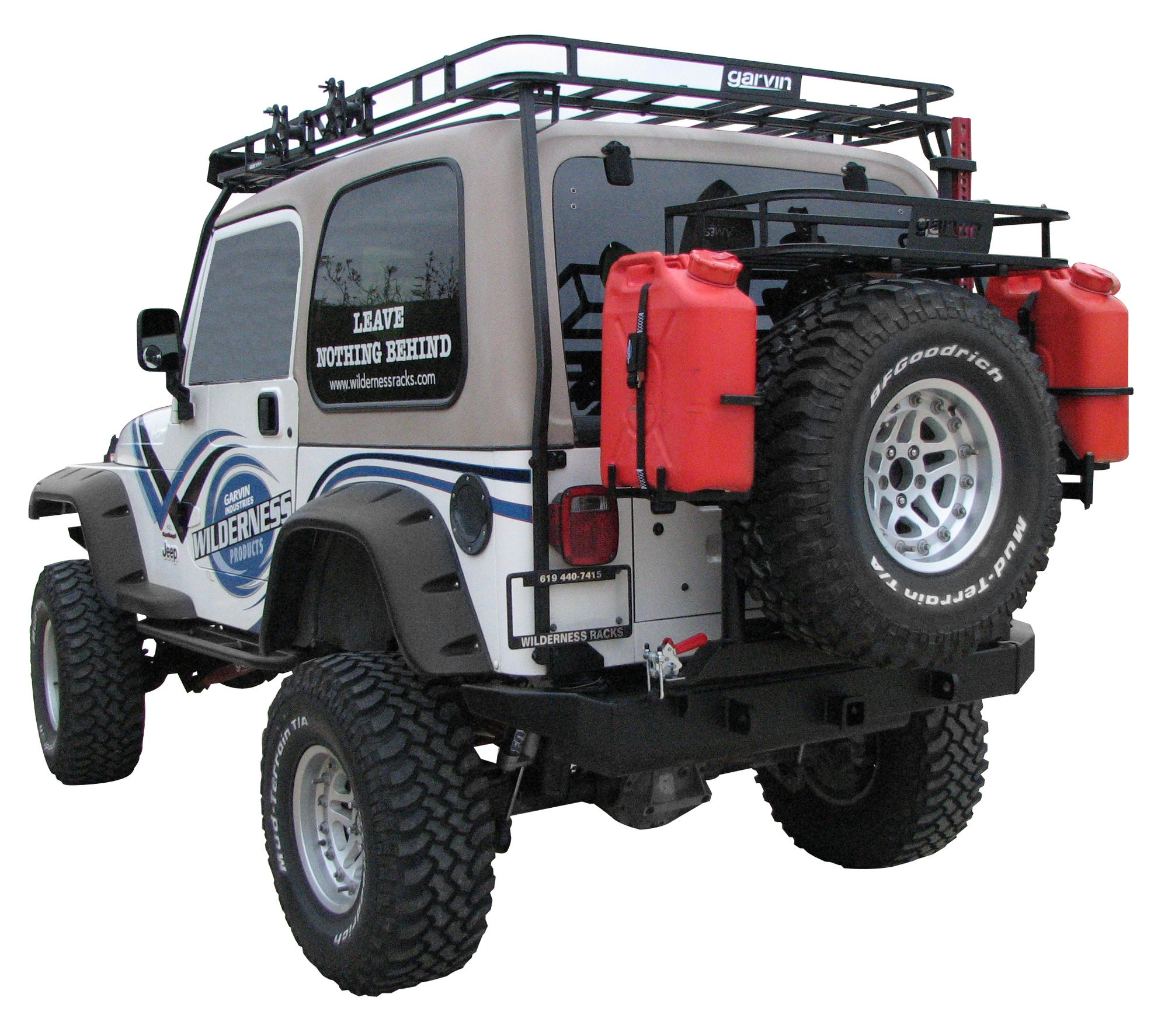 Garvin G2 Series Rear Bumper With Swing Out Tire Carrier For 97 06 Jeep  Wrangler TJ