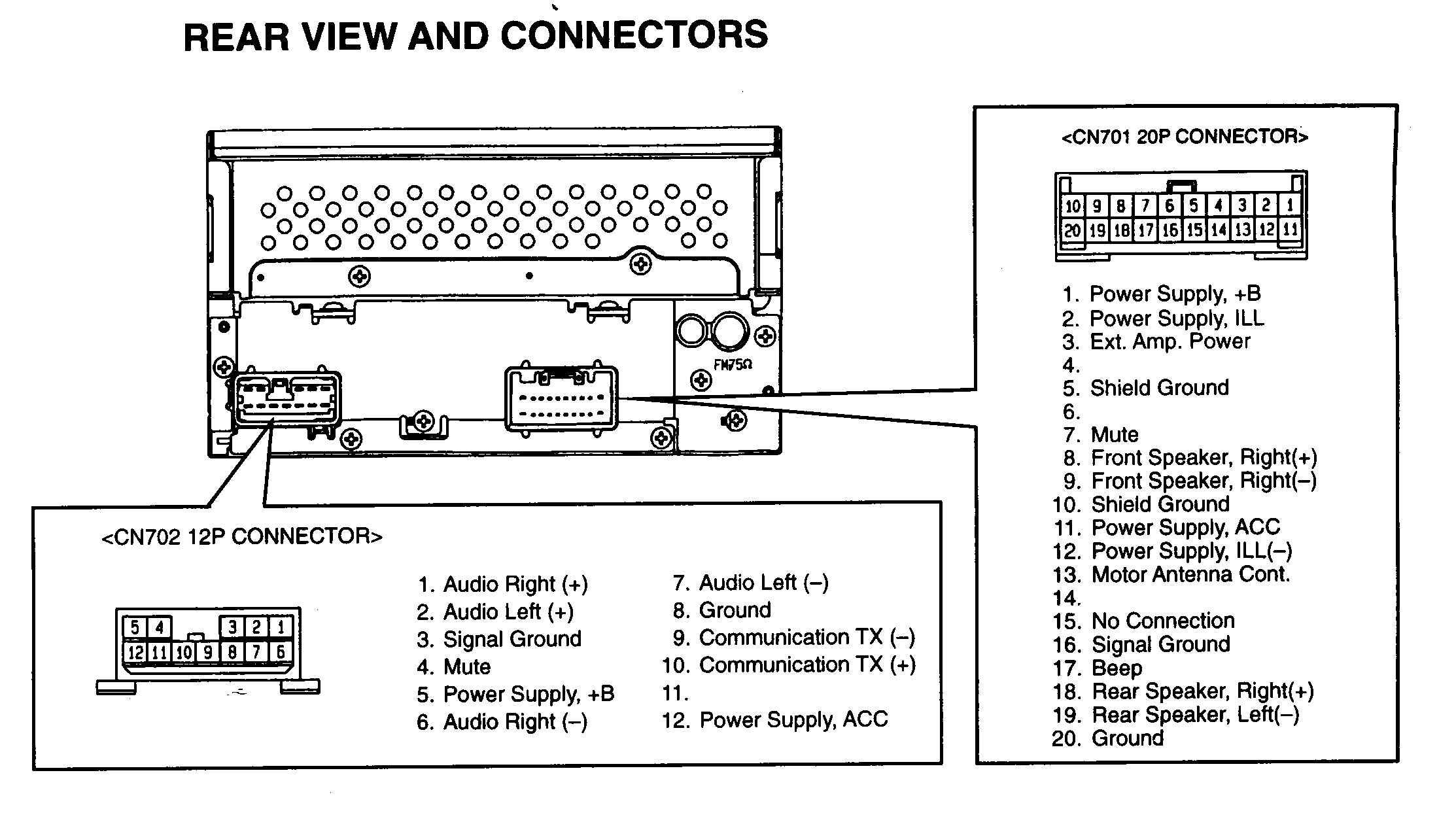 1998 Ford Expedition Radio Wiring Diagram Head Unit Harness 98 Stereo With Factory Car Diagrams Of