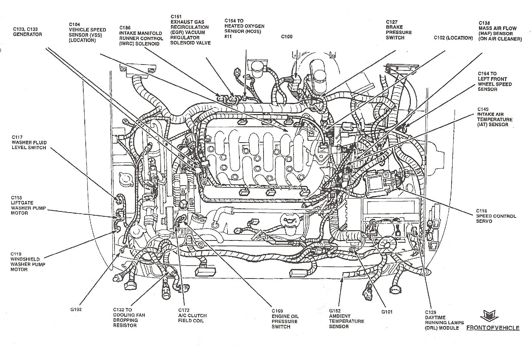 1998 ford Taurus Engine Diagram 2000 ford Windstar Wiring Diagram Blurts Of 1998 ford Taurus Engine Diagram