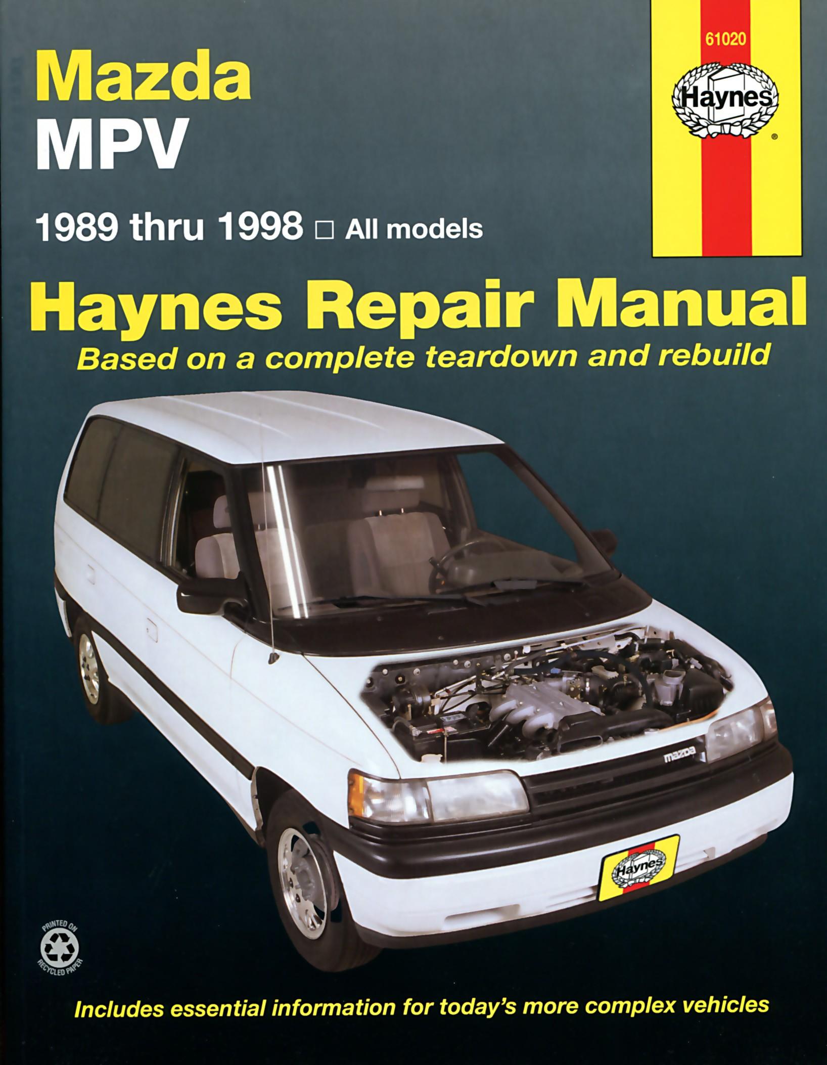 1998 Mazda Mpv Engine Diagram My Wiring DIagram