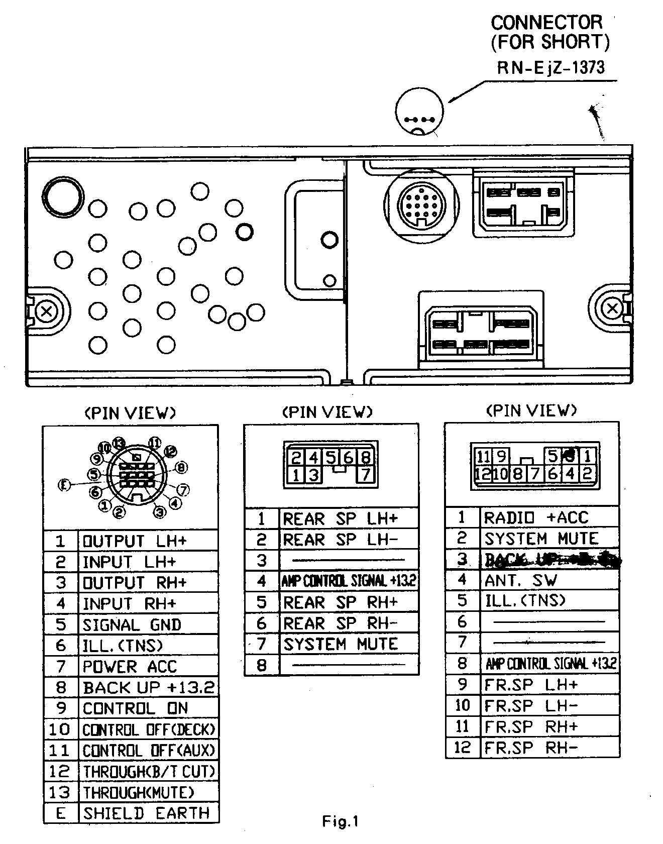 WRG-7045] 1998 Mazda Radio Wiring Diagram on