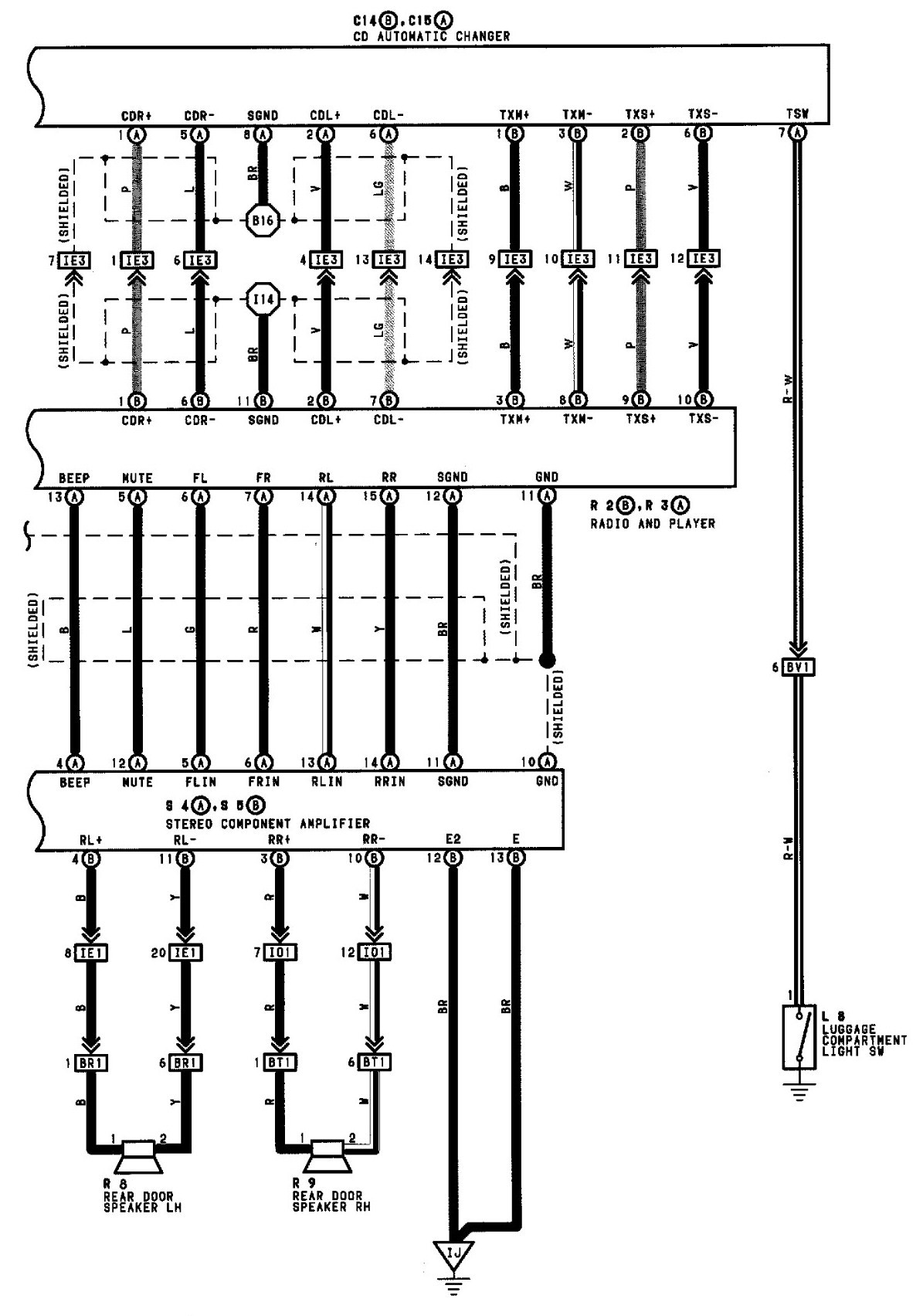 toyota truck stereo wire diagram