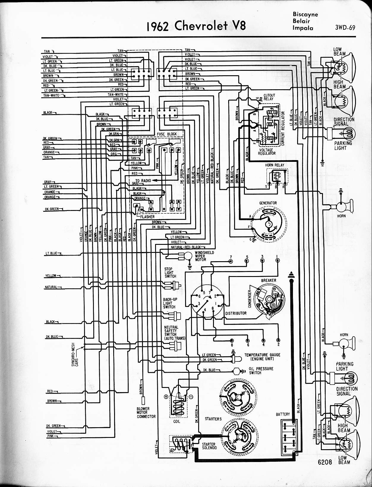 2000 Chevy Impala 3 4 Engine Diagram Chevrolet Sedan 1964 57 65 Wiring Diagrams Of