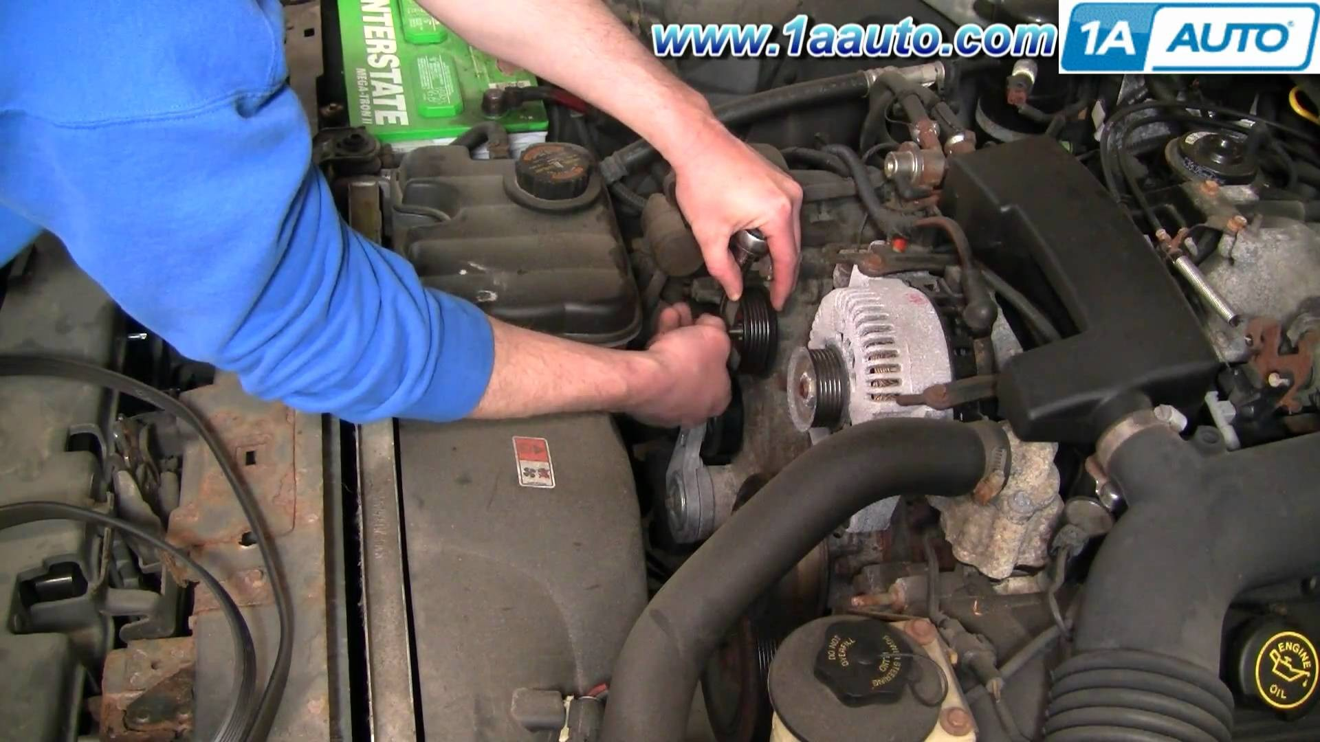 2000 Lincoln Navigator Engine Diagram How to Install Repair Replace Engine  Belt Idler Pulley Lincoln town