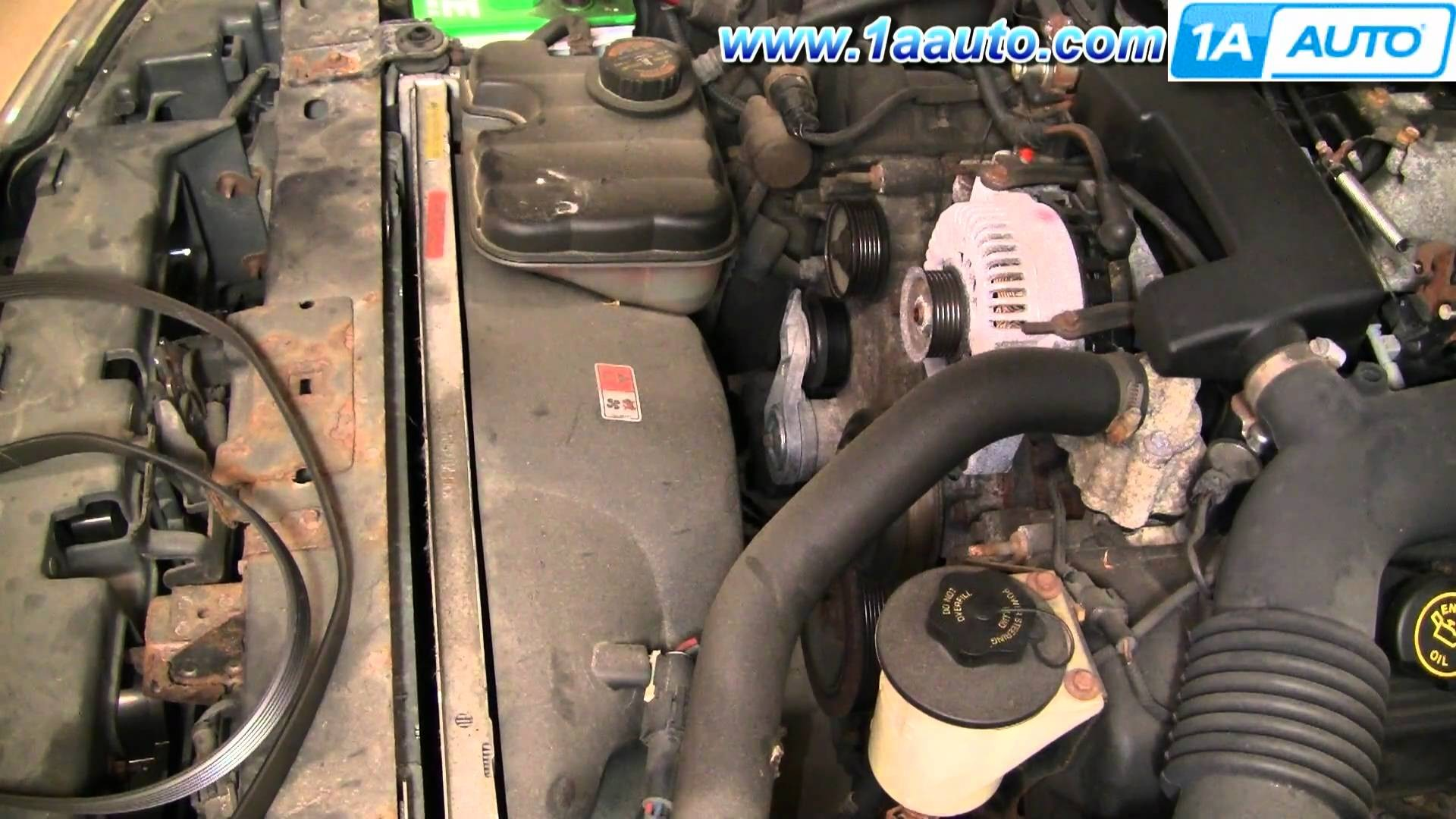 2000 Lincoln Navigator Engine Diagram Removing Thermostat 2001 Ls V6 How To Install Repair Replace Serpentine Belt Tensioner Town Of