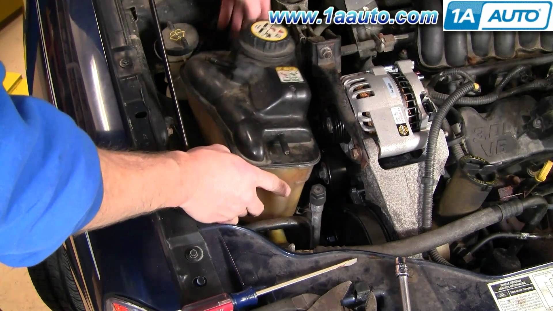 How To Install Replace Alternator Ford Taurus V63 0L 00 07 1AAuto