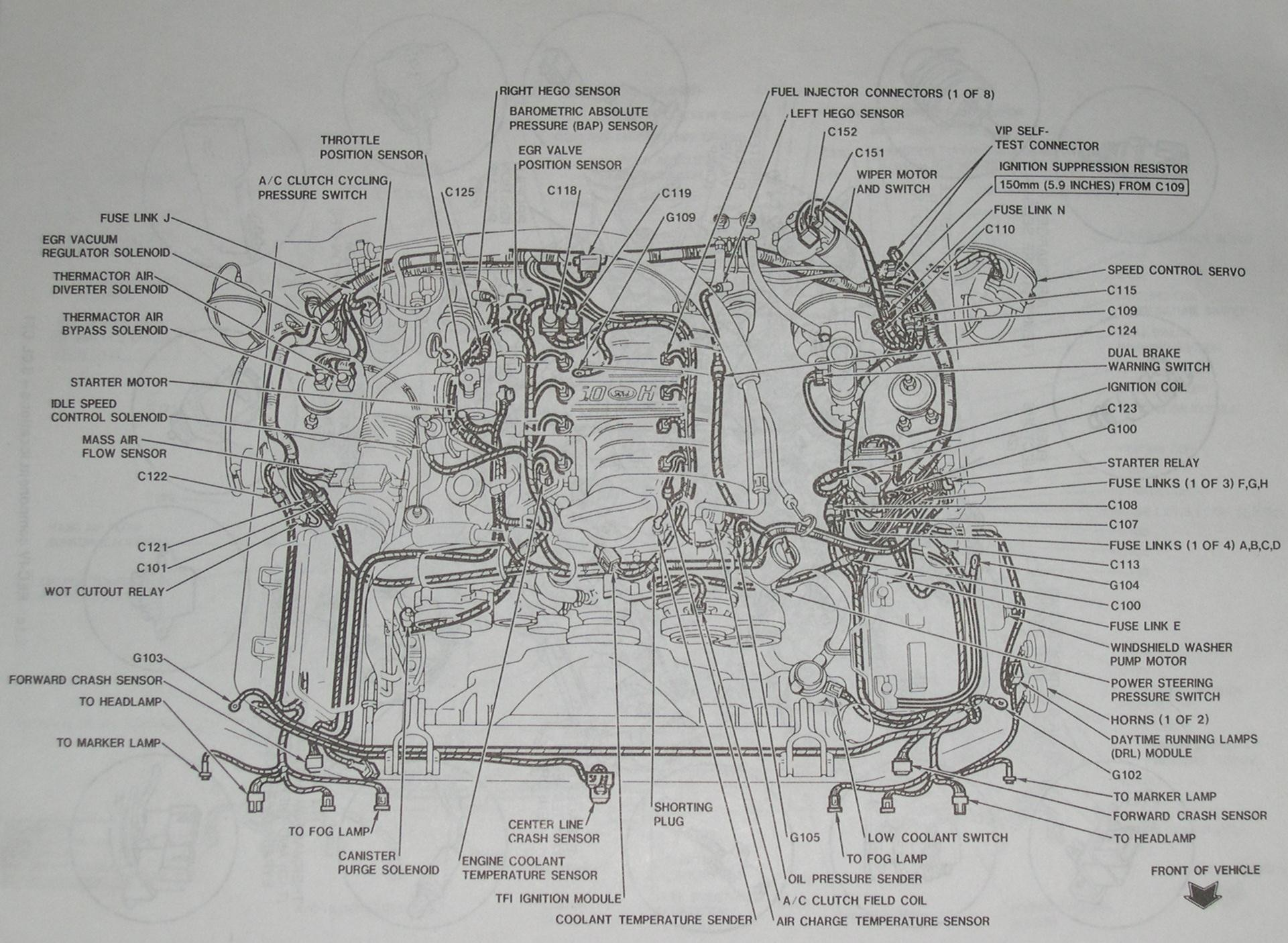 1999 ford mustang engine diagram