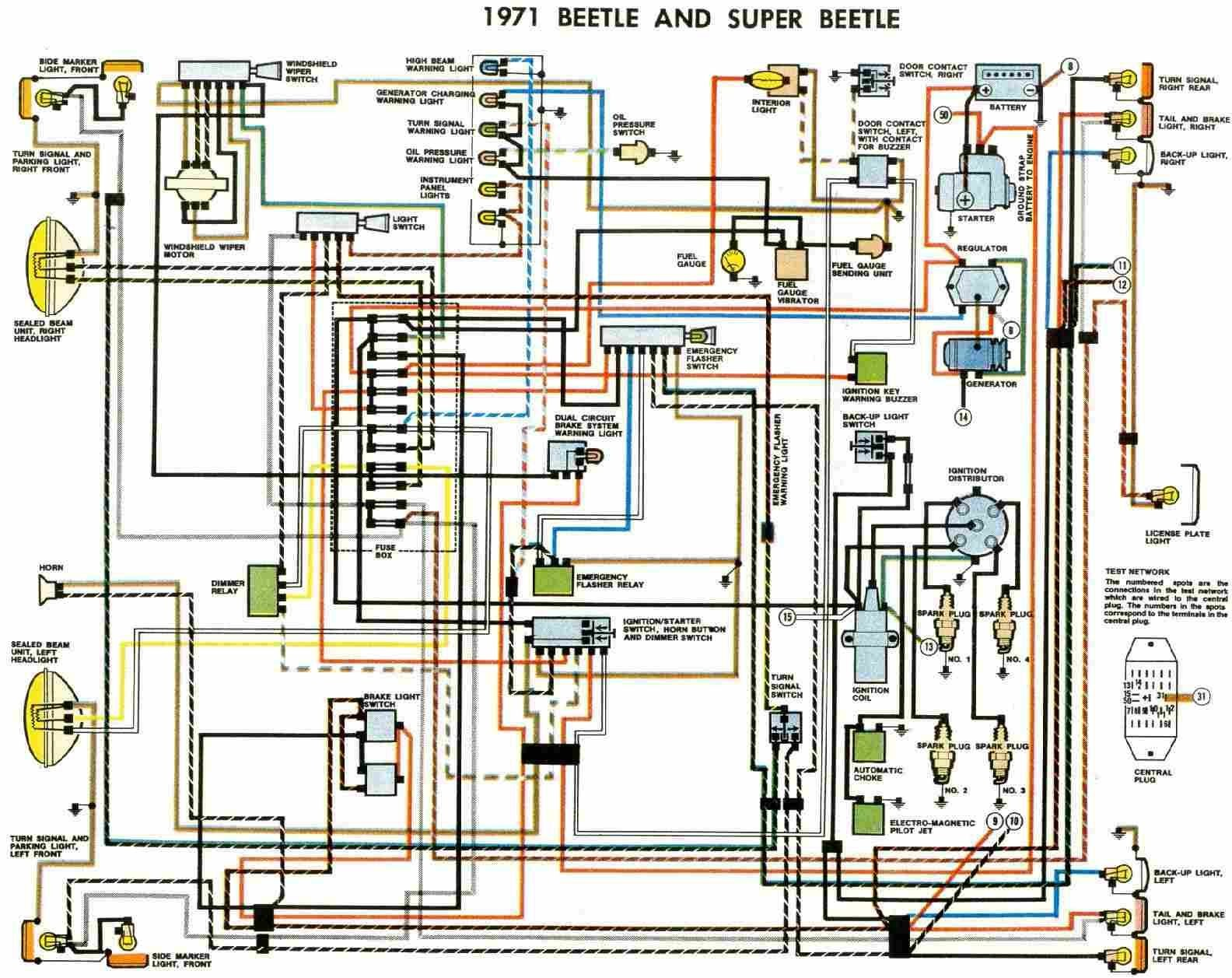 2000 Vw Beetle Parts Diagram Free Auto Wiring Diagram 1971 Vw Beetle and Super Beetle
