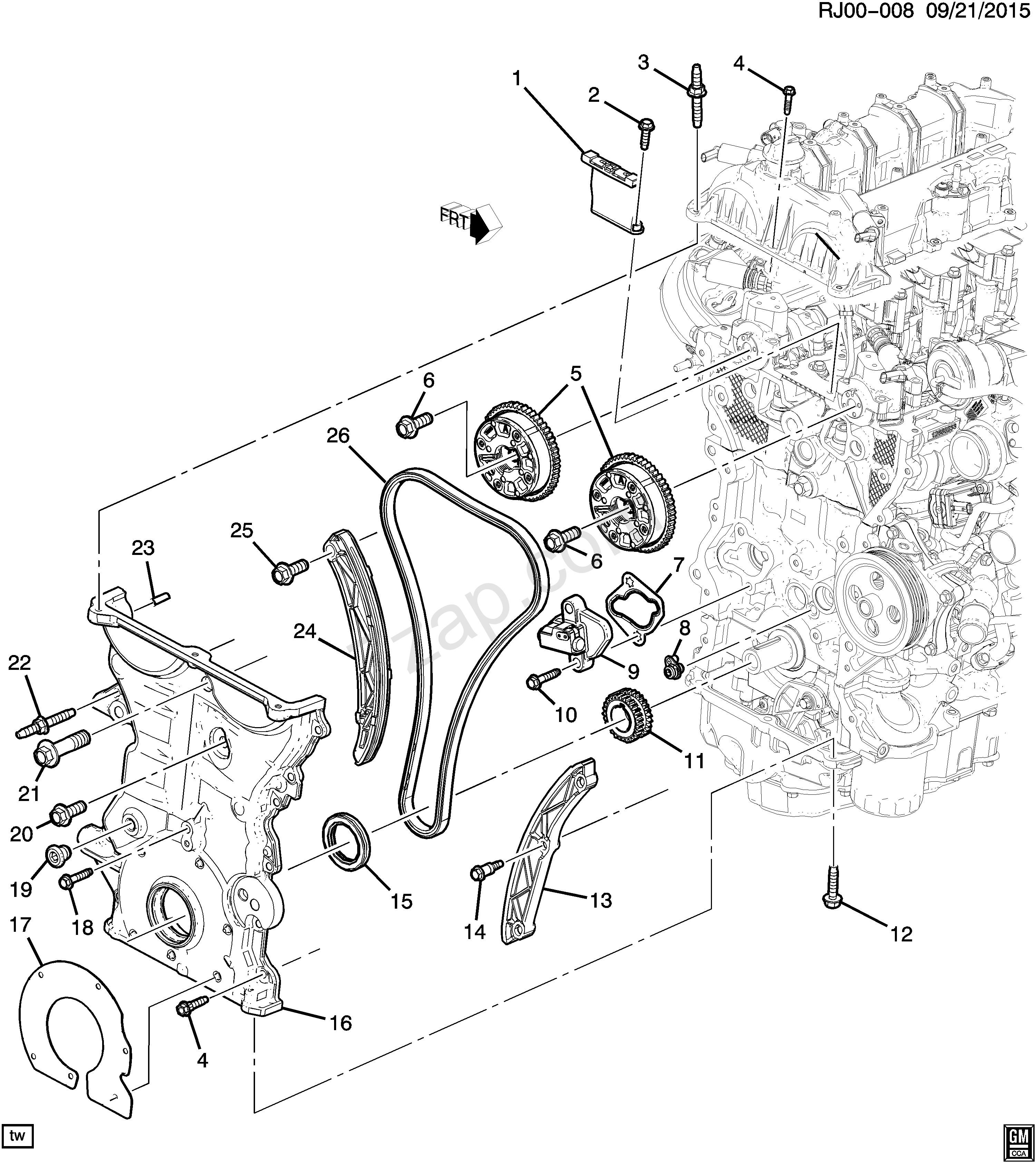 2001 Chevy Malibu 3 1 Engine Diagram 2017 2017 Zb Zc Zd69 Engine asm 1 5l L4 Part 3 Front Cover & Timing Of 2001 Chevy Malibu 3 1 Engine Diagram