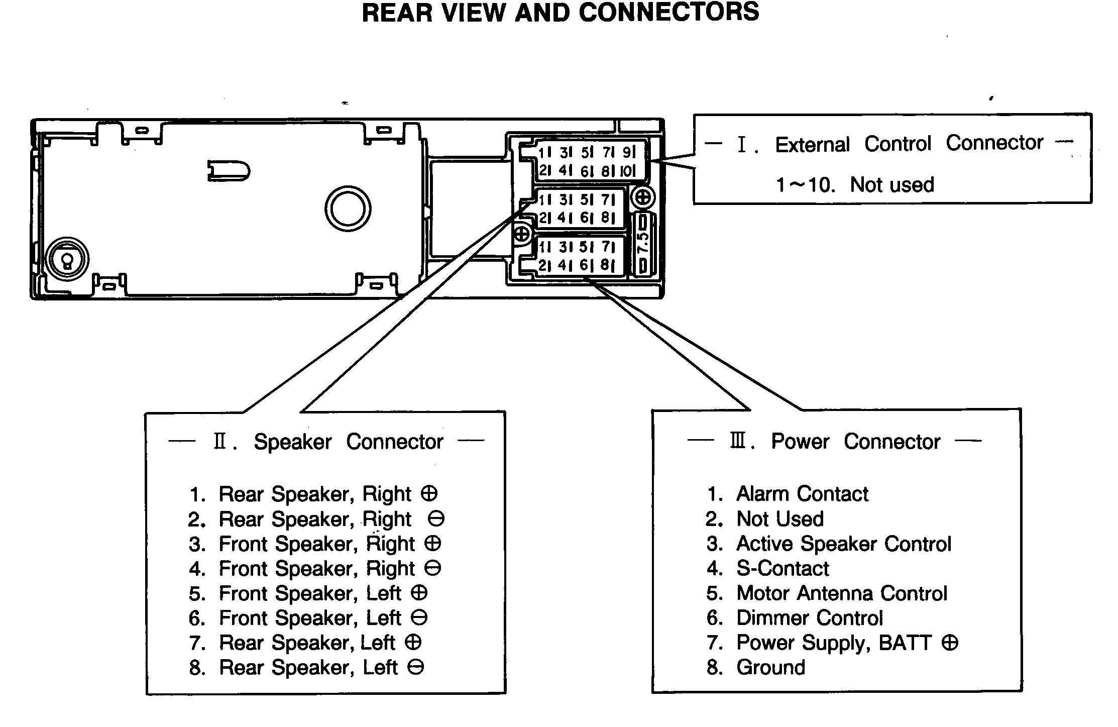 2001 ford Taurus Radio Wiring Diagram Car with Detaleted Wiring and Factory Stereo Diagrams Wiring Diagram Of 2001 ford Taurus Radio Wiring Diagram