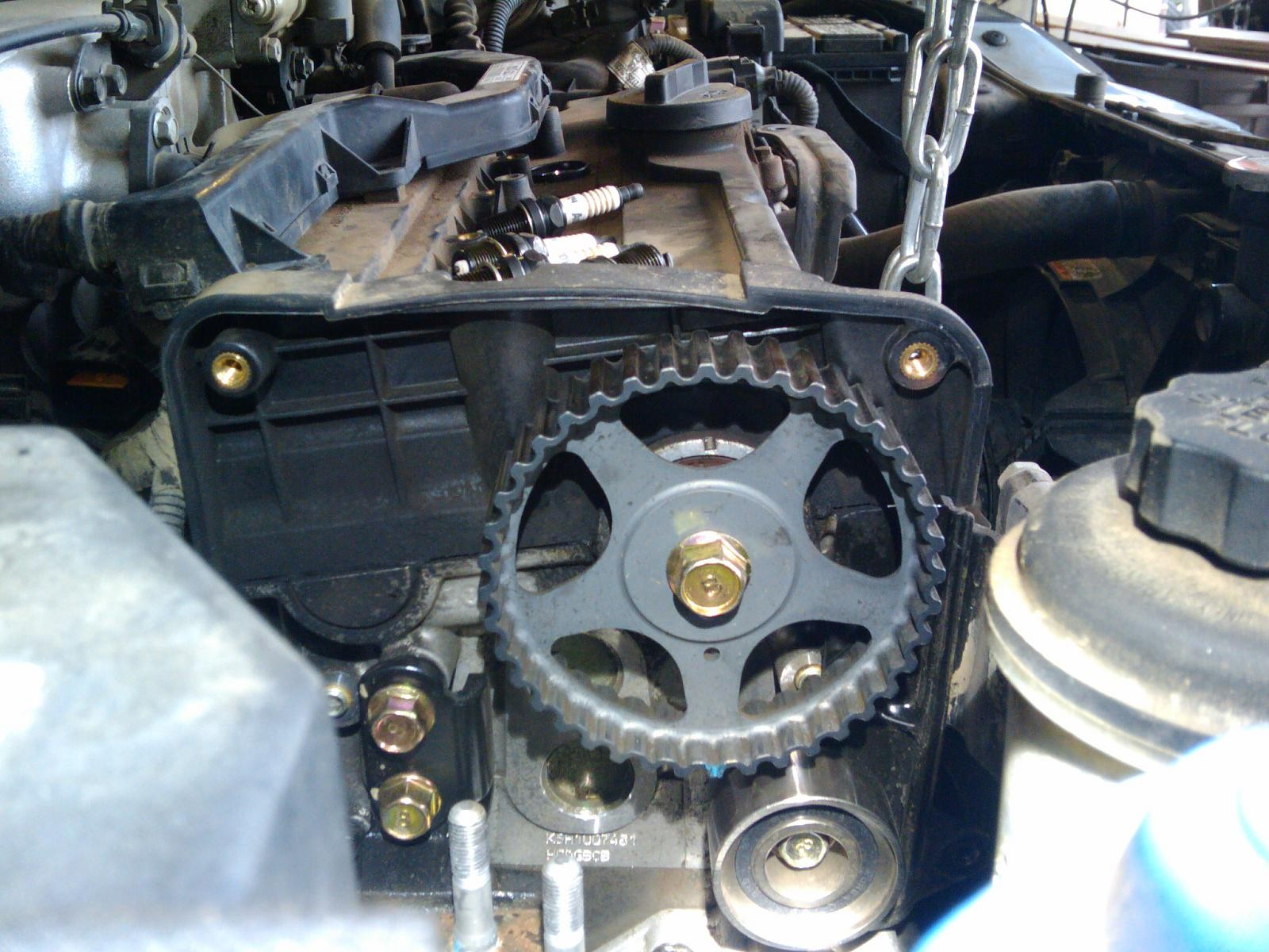 2001 Kia Rio Engine Diagram Timing Belt Replacement Optima 2 7l Setting Diagrams Diy Warning Interference Service Interval Of