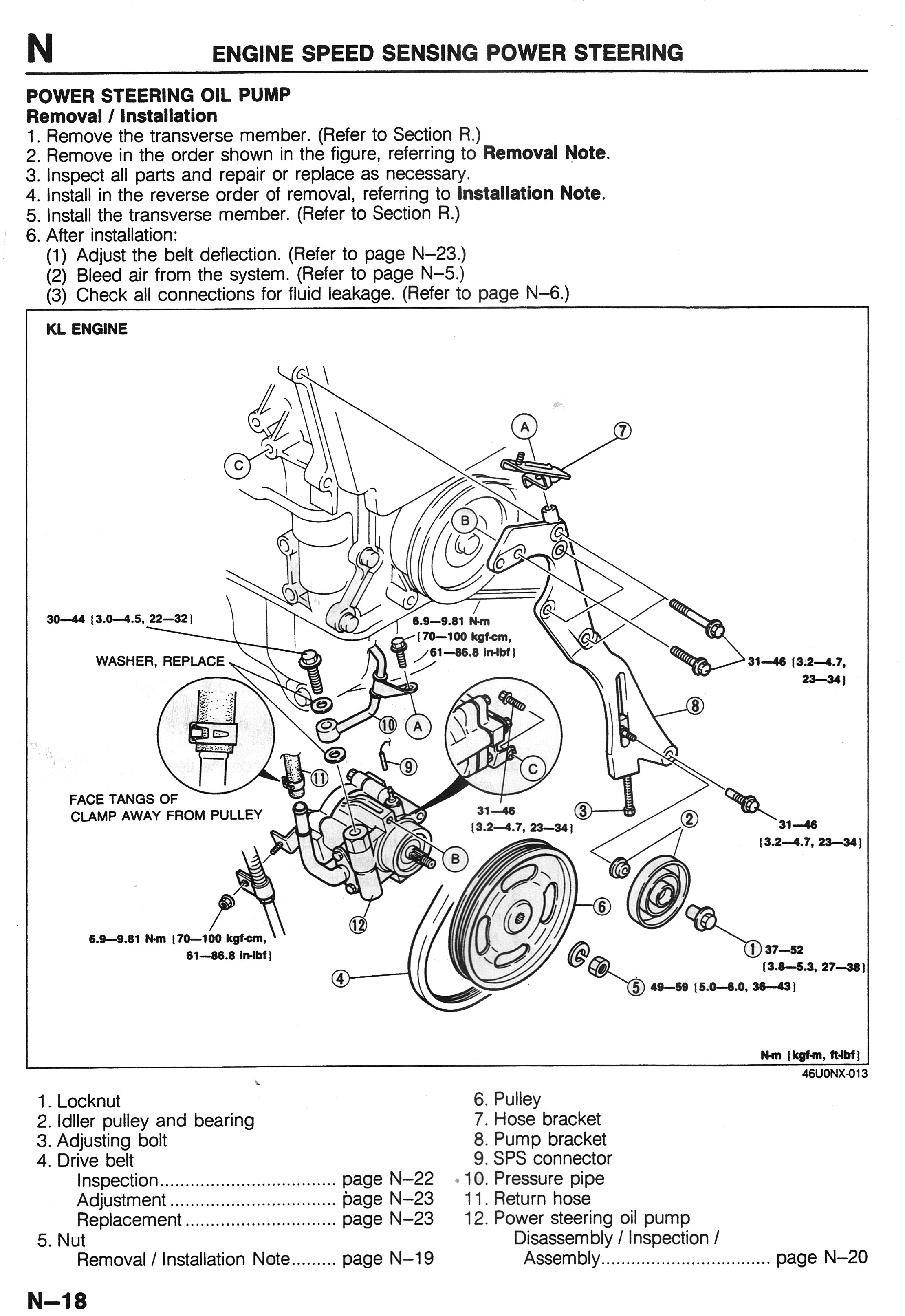 2001 Mazda Millenia Engine Diagram Power Steering Pump Repair Info 1993  2002 2 5l V6 Mazda626