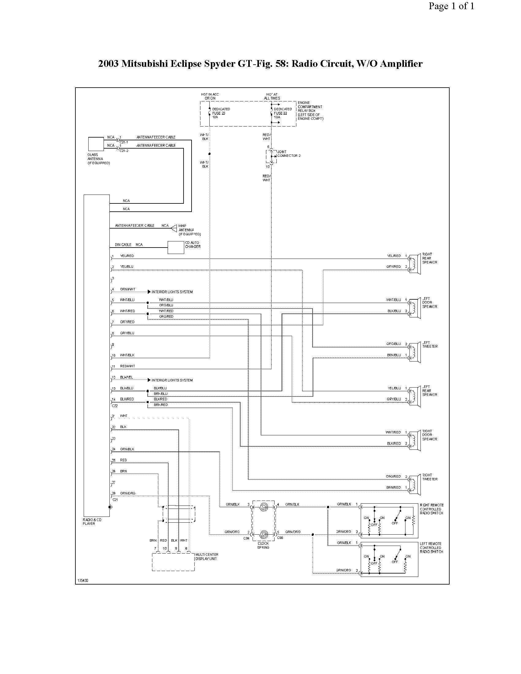 2001 Mitsubishi Eclipse Engine Diagram Wiring Diagram Moreover 2001 Mitsubishi  Eclipse Radio Wiring Diagram Of 2001