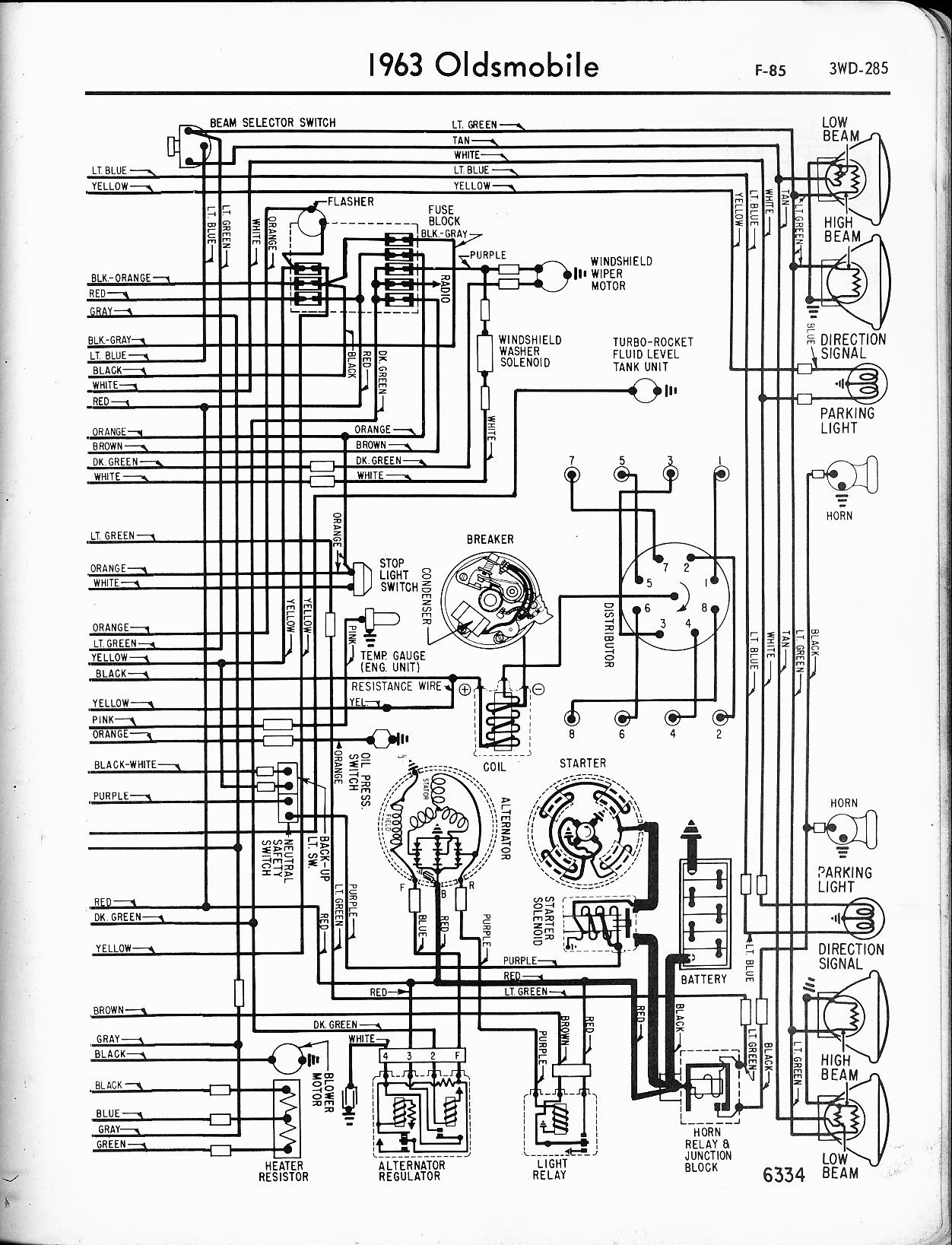 Wiring Diagrams Oldsmobile 88
