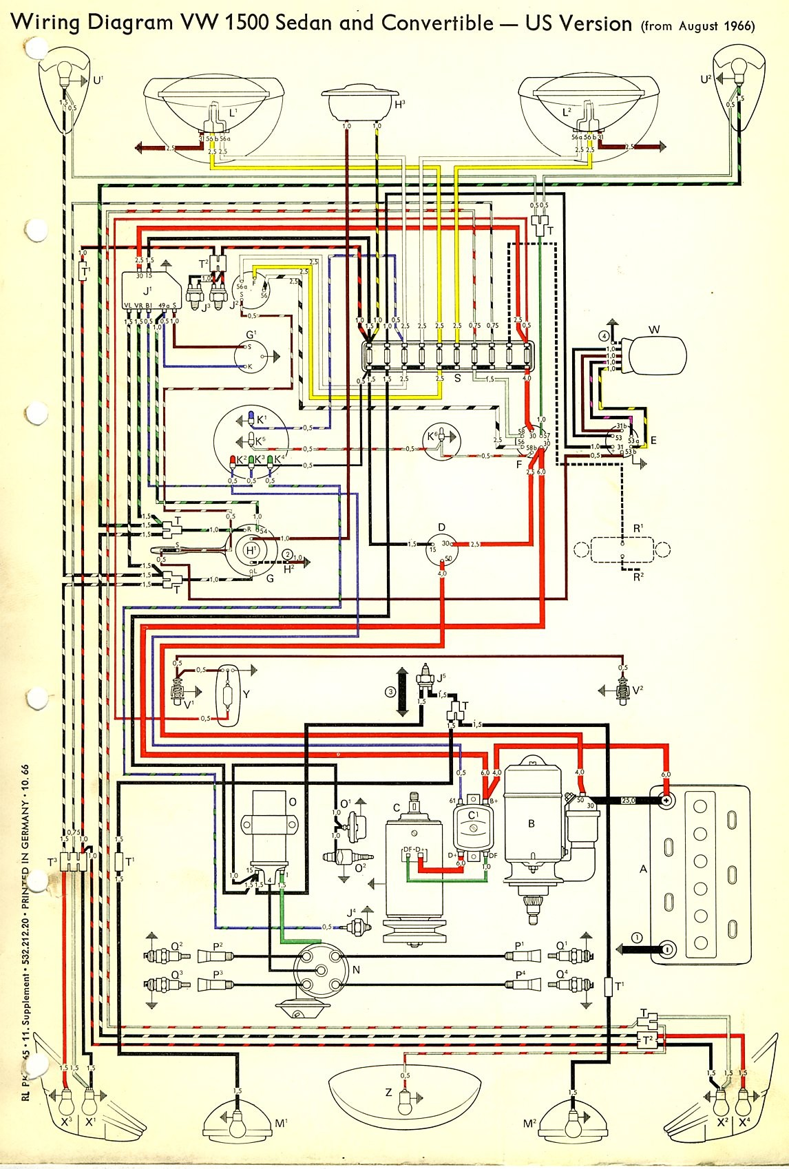 1974 Vw Engine Wiring Library 74 Diagram Voltage Regulator Beetle U2022 72