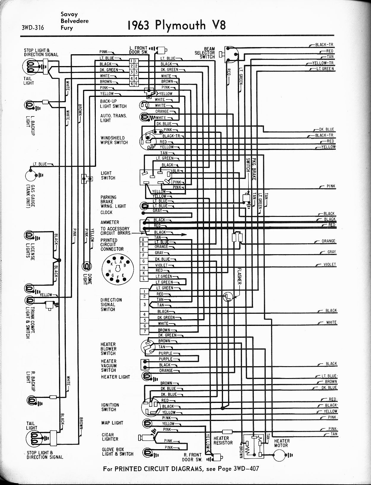 1964 Plymouth Sport Fury Wiring Diagram | Wiring Liry on