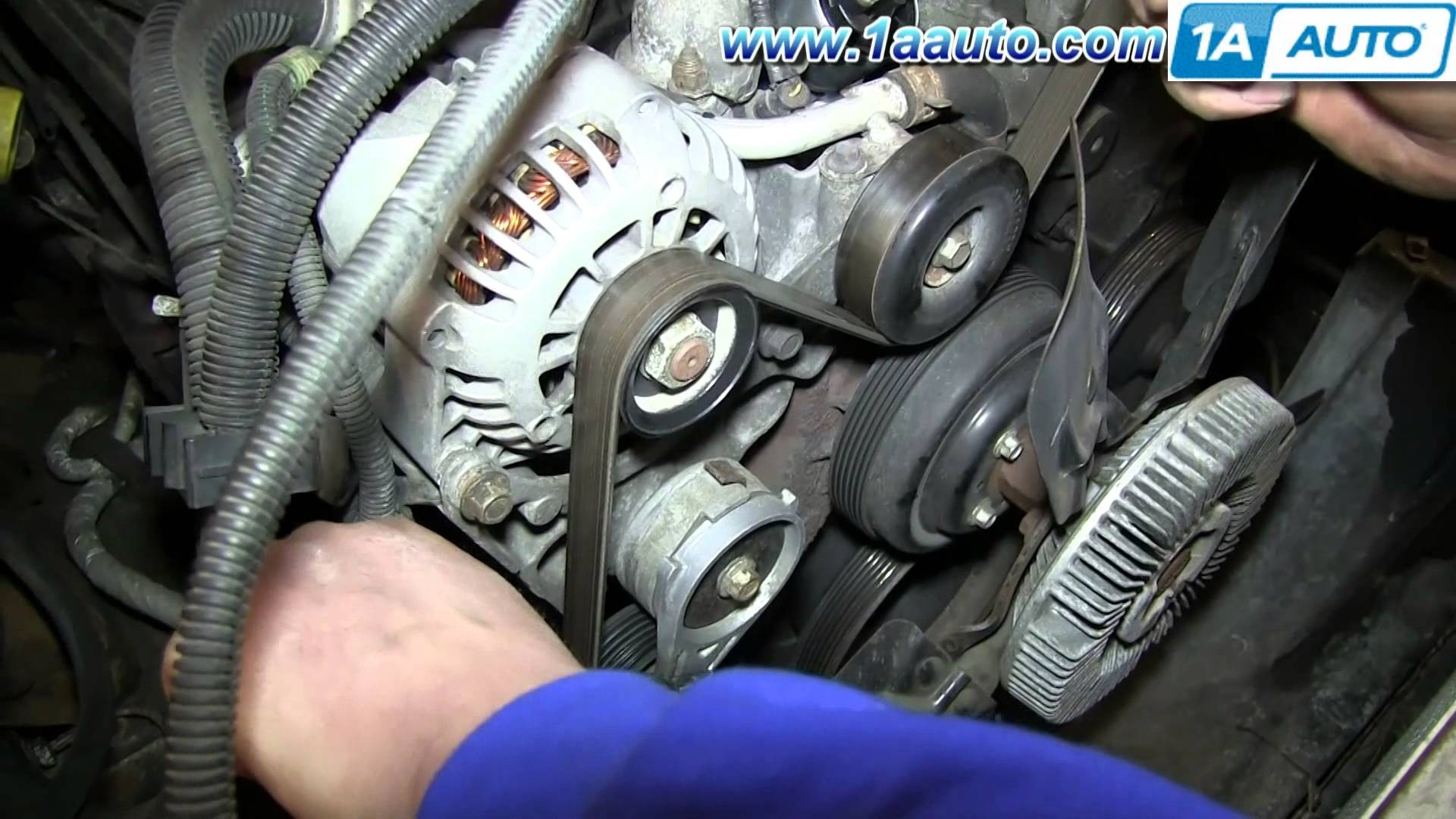 How To Install Replace Serpentine Belt Tensioner Vortec 7l Chevy How Tahoe  Gmc Yukon Suburban