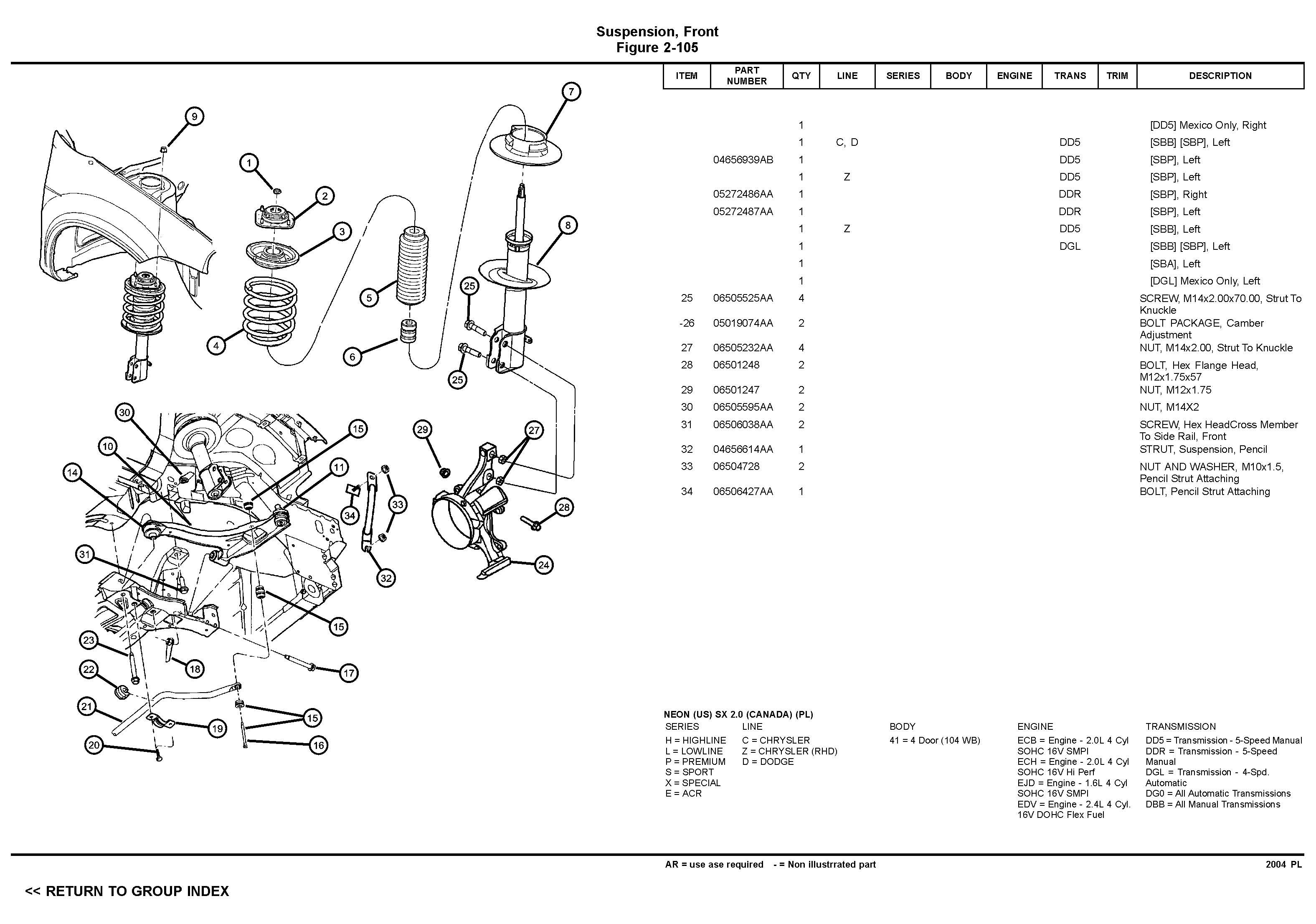 2002 dodge neon engine diagram