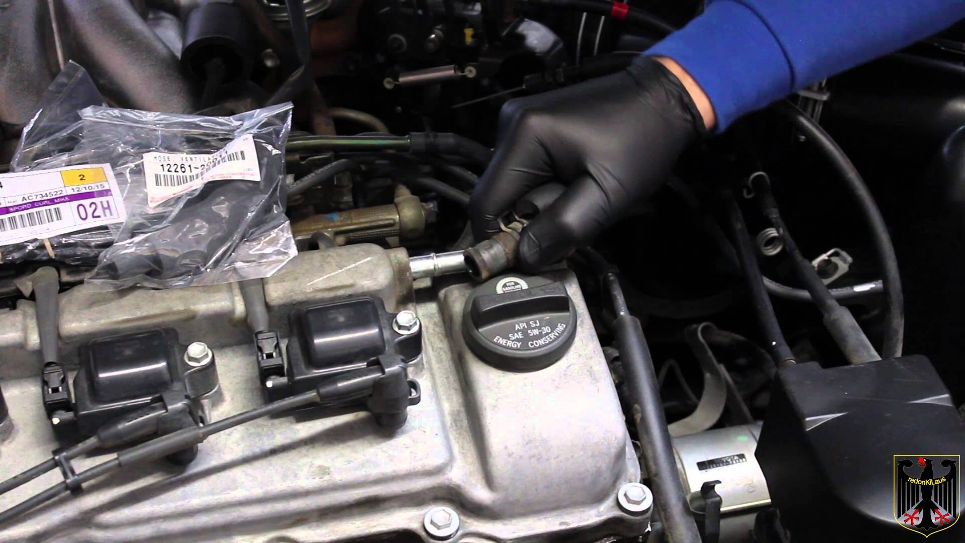 2002 Toyota Camry 4 Cylinder Engine Diagram 2001 Vacuum Line Replacement Of