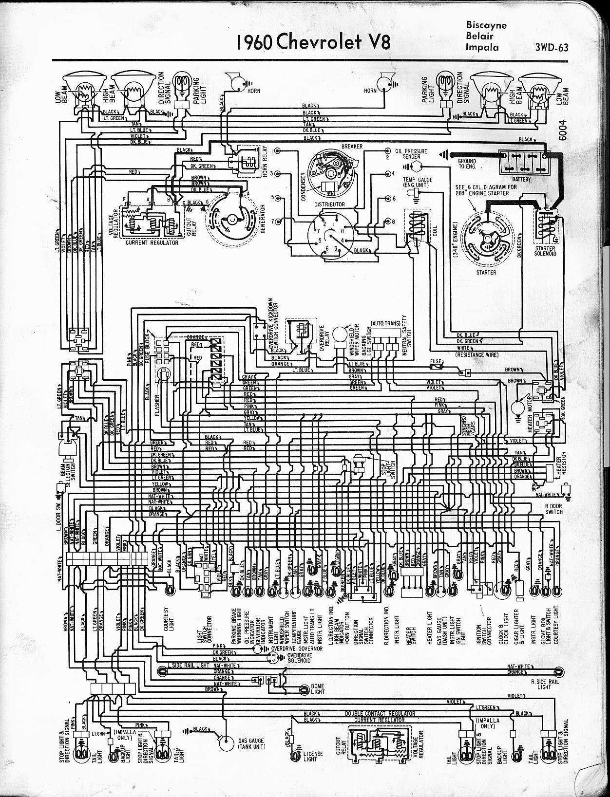2004 Chevy Impala Engine Diagram Chevrolet Sedan 1964 Ss 57 65 Wiring Diagrams Of