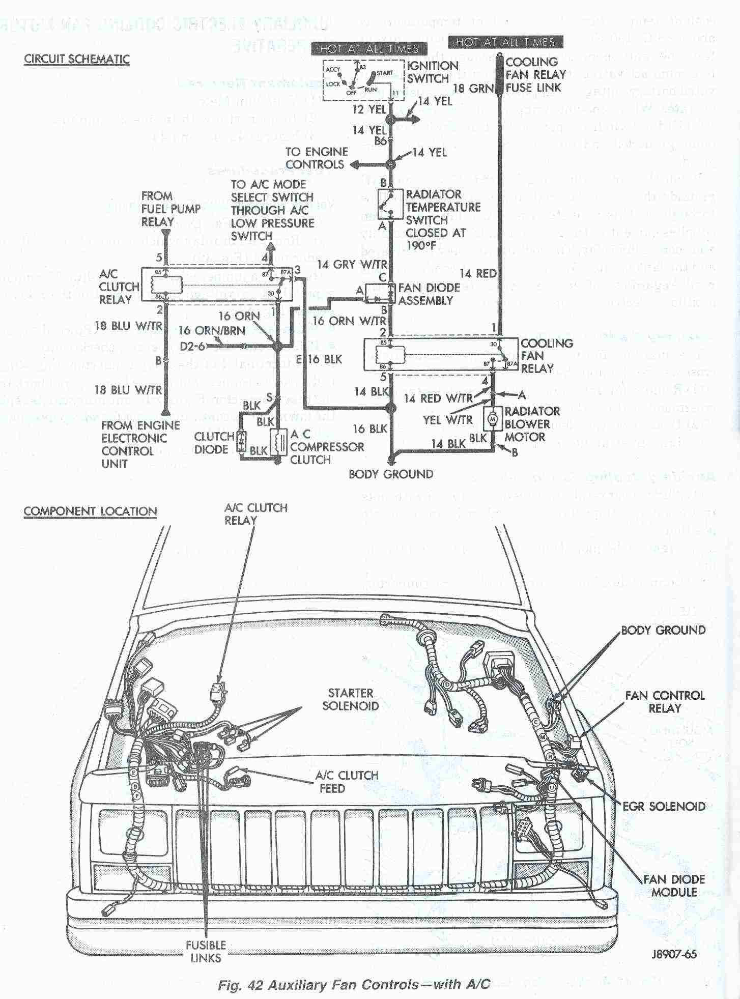 2004 Jeep Wrangler Engine Diagram Wiring For Ac Unit How To Connect Thermostat Along With Cherokee