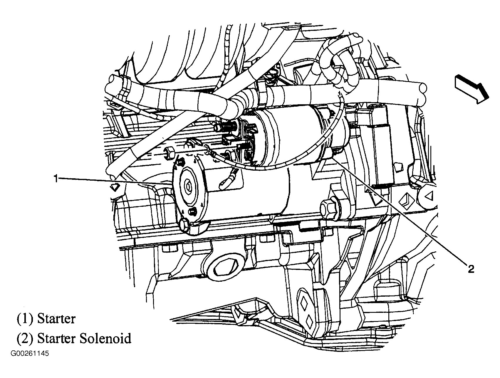 2005 chevy starter diagram