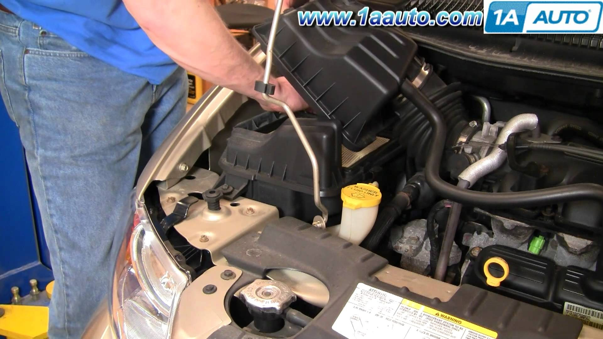 2005 Chrysler town and Country Engine Diagram How to Install Replace Air Filter Chrysler town and Country 01 07 Of 2005 Chrysler town and Country Engine Diagram