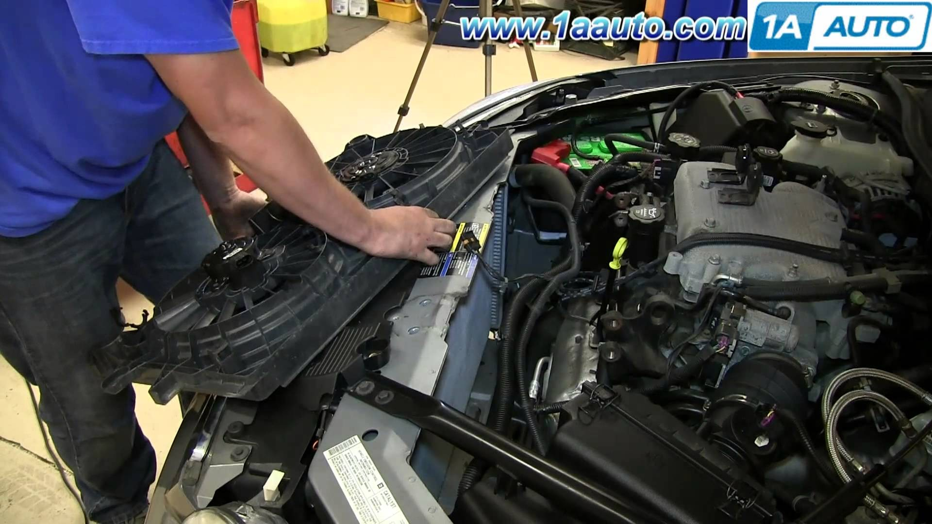 2007 Chevy Uplander Engine Diagram How to Install Replace Engine Radiator  Cooling Fan 2006 12 Chevy