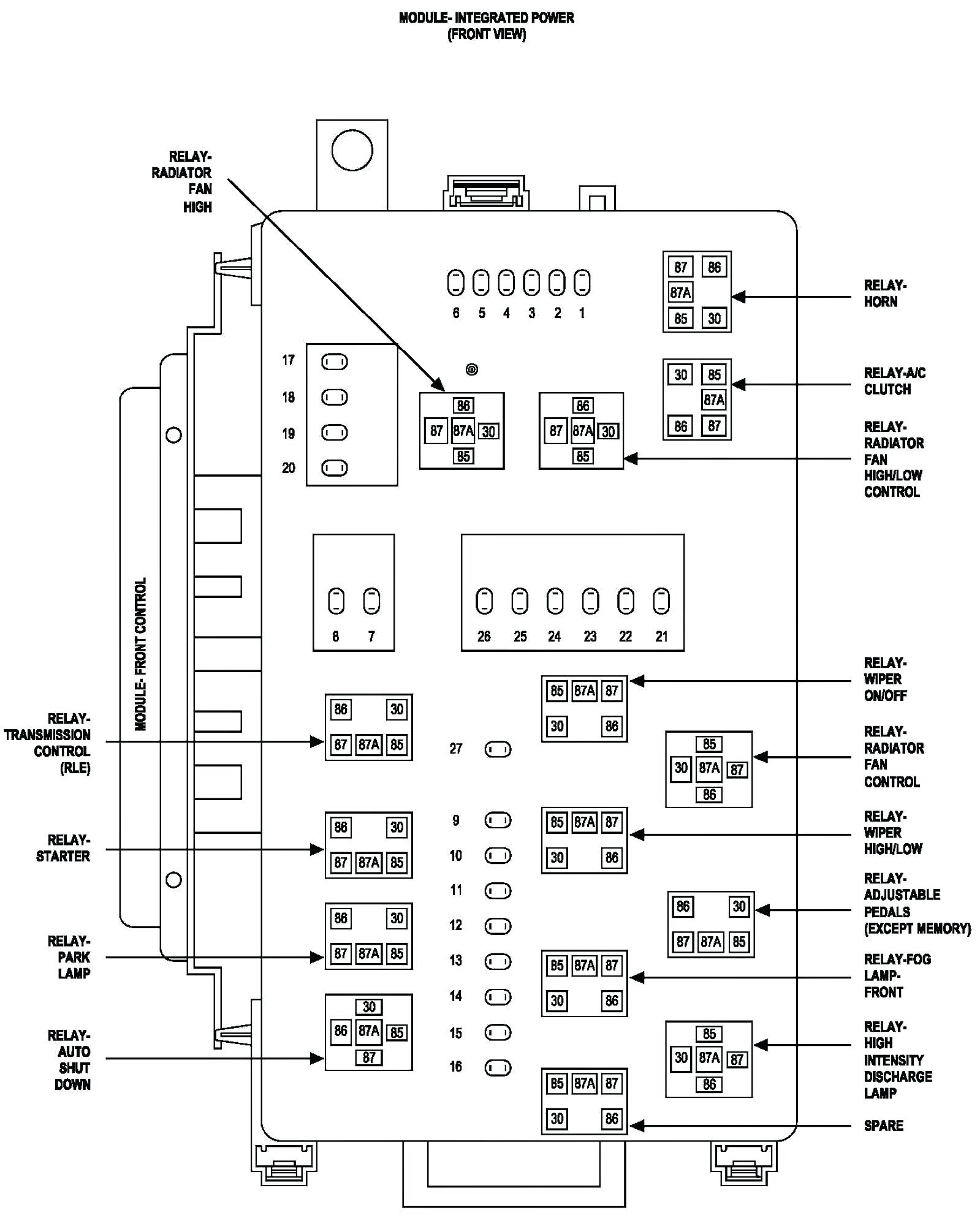 fuse panel diagram for 2007 dodge charger