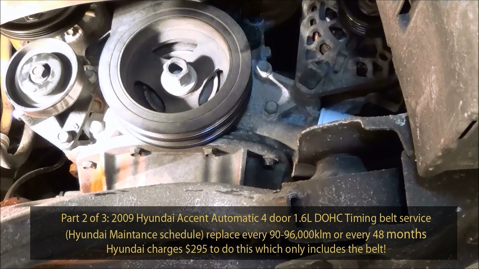 2009 Hyundai Accent Engine Diagram How To Replace A Starter On Kia Rio 1 6l Gls Dohc Timing Belt Service Part