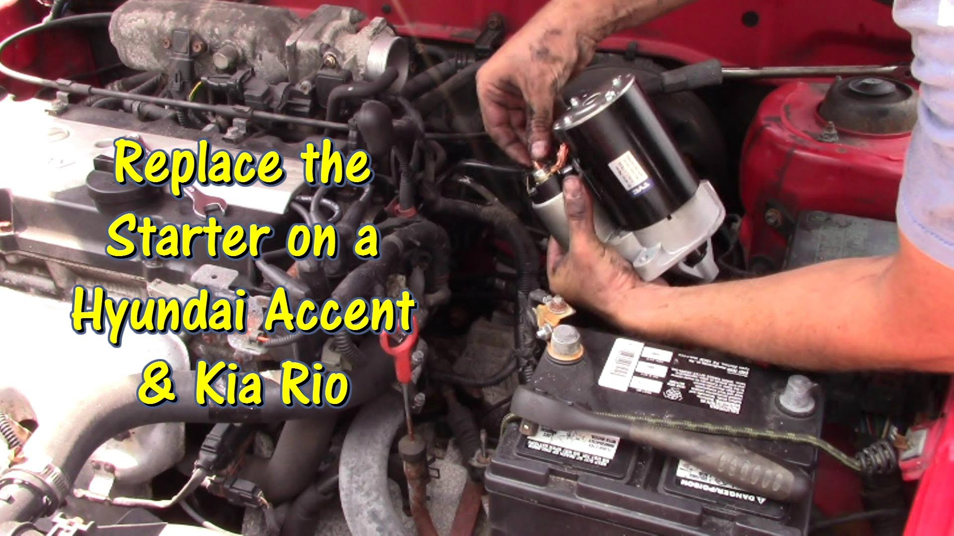 2009 Hyundai Accent Engine Diagram How to Replace A Starter On A Hyundai  Accent & Kia Rio by