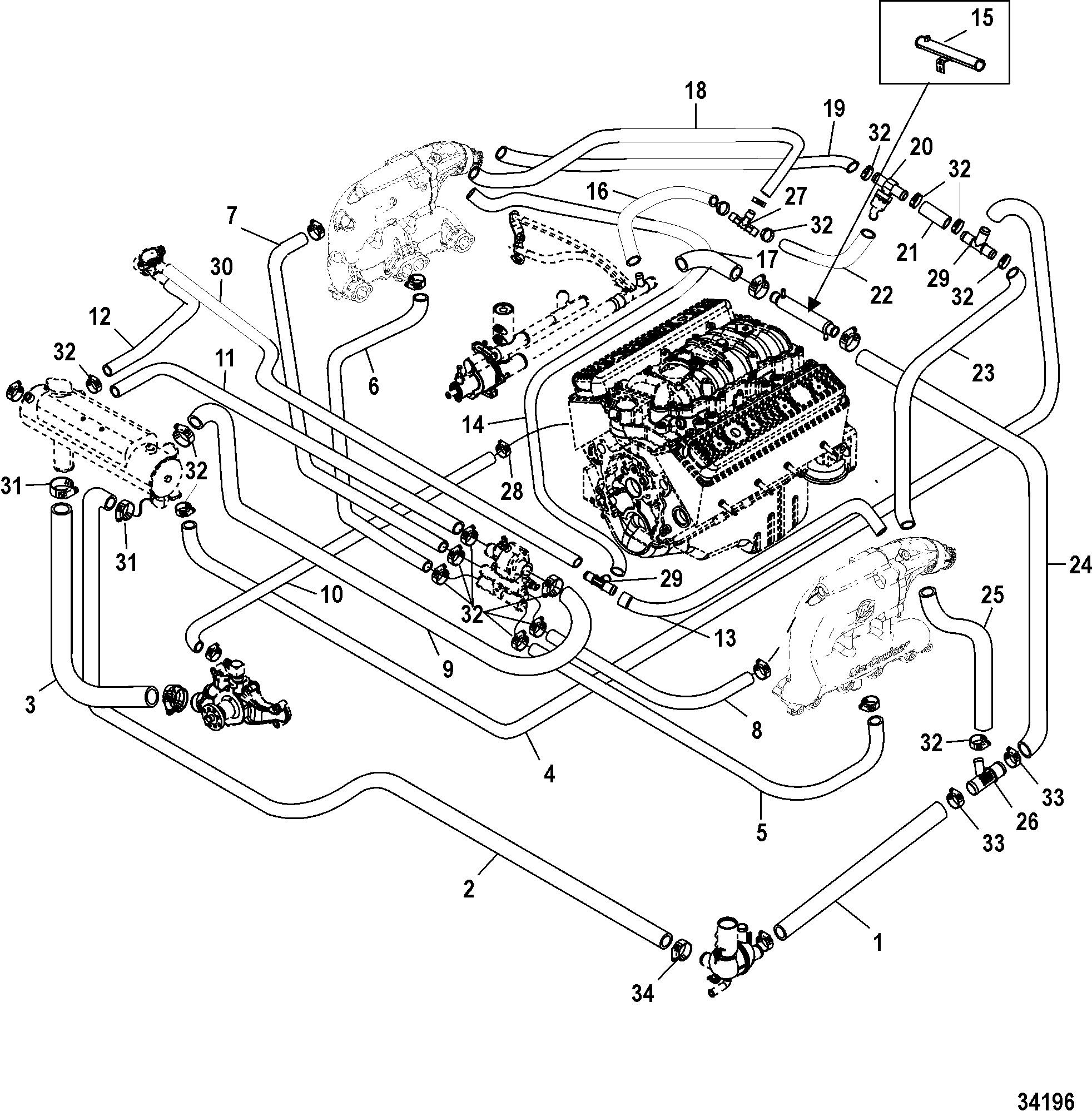 3 0 L Mercruiser Engine Diagram КатаРог запчастей Mercruiser остаРьные 350 Mag Mpi Horizon Alpha Of 3 0 L Mercruiser Engine Diagram
