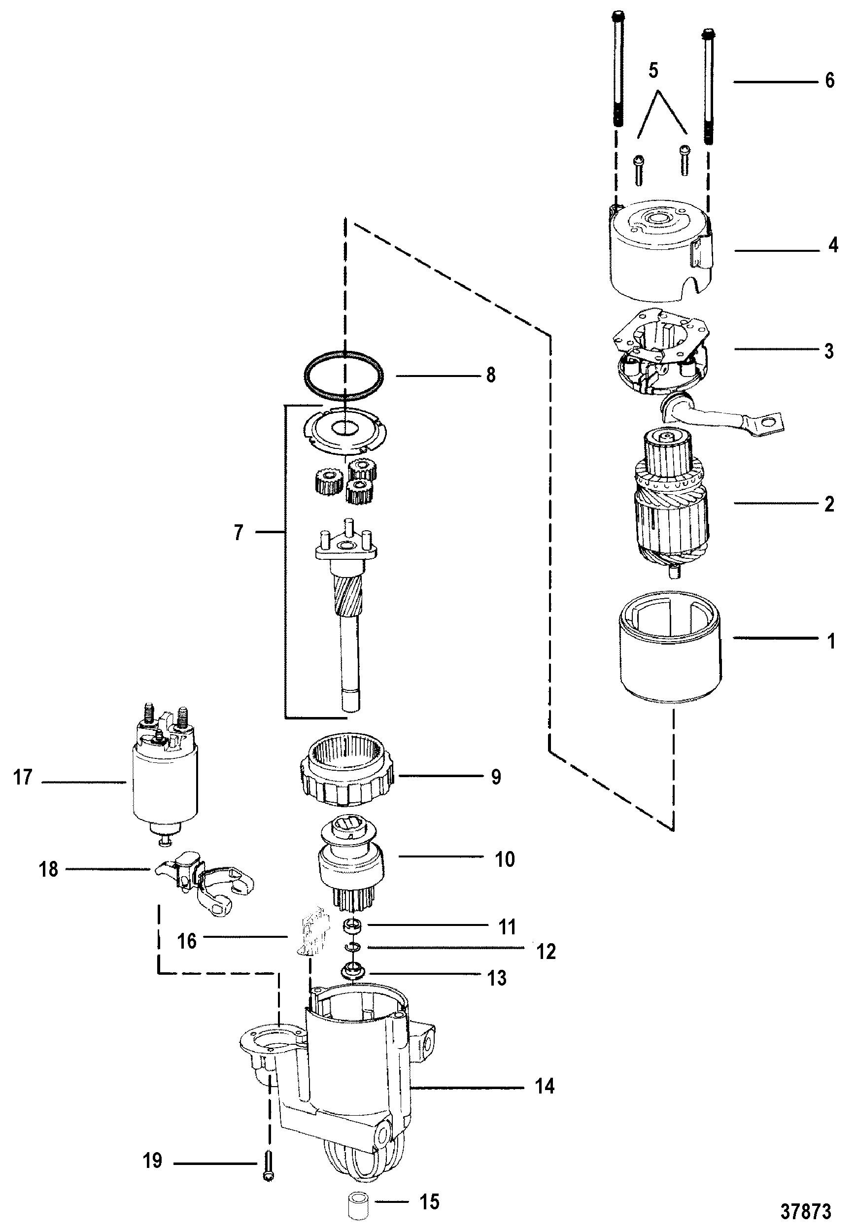 3 0 L Mercruiser Engine Diagram Starter Motor for Mercruiser 7 4l Bravo I Ii Iii Engine Of 3 0 L Mercruiser Engine Diagram