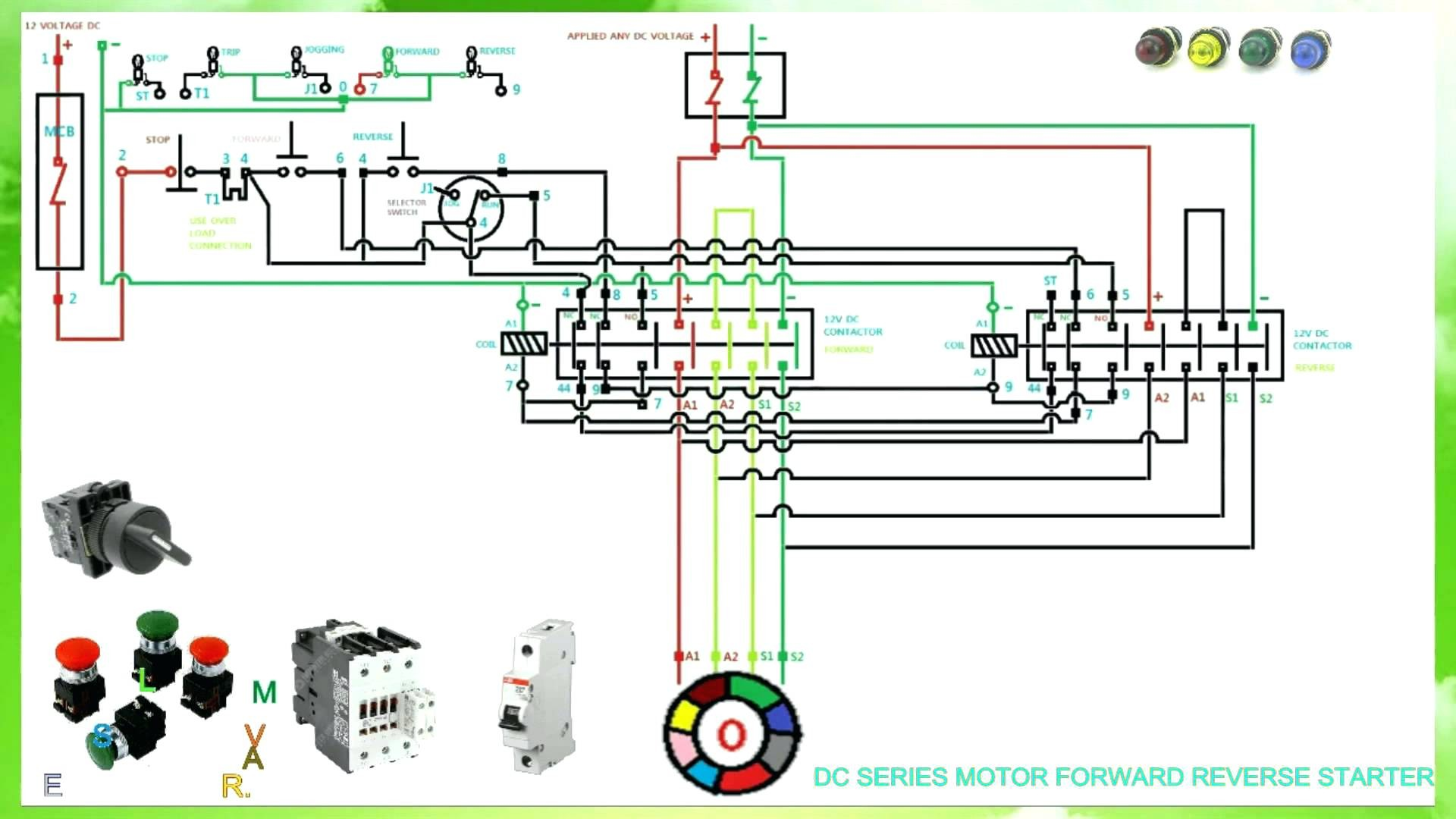 3 Phase Starter Wiring Diagram Motor Pdf Dol Control For Forward Reverse