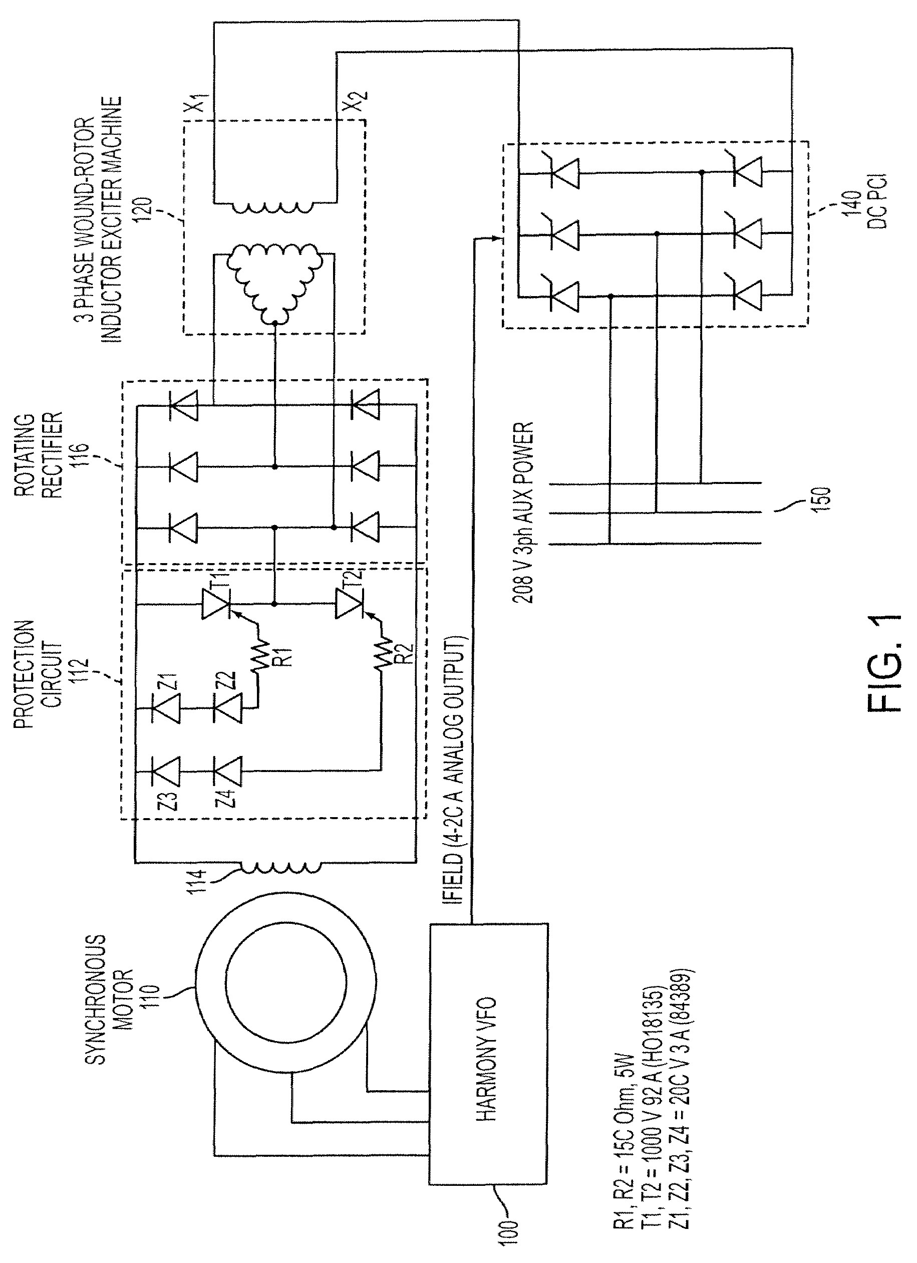 3 Phase Starter Wiring Diagram Patent Us Method Starting A Synchronous Motor with Drawing Of 3 Phase Starter Wiring Diagram