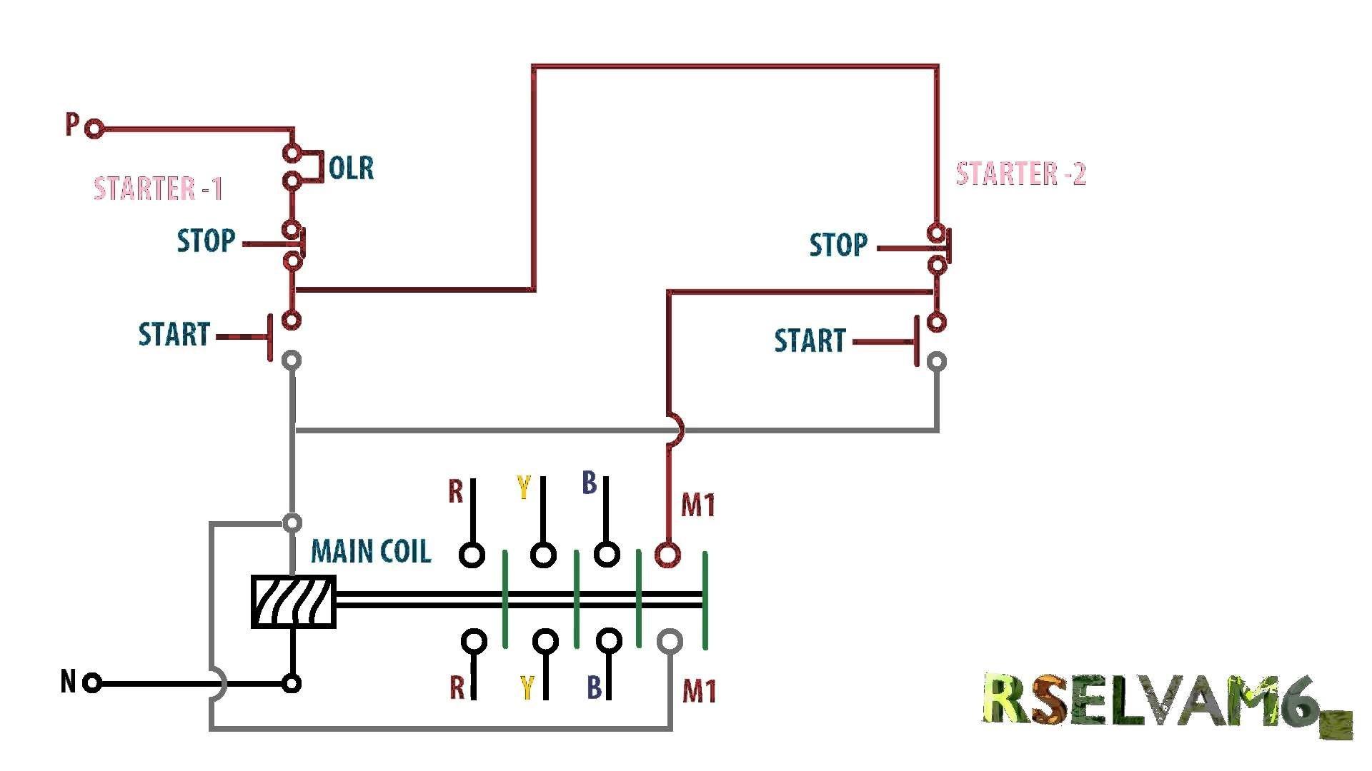3 Phase Starter Wiring Diagram Vfd Starter Wiring Diagram Ponent ...